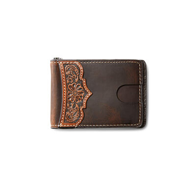Bifold Wallet Embroidery Scallop