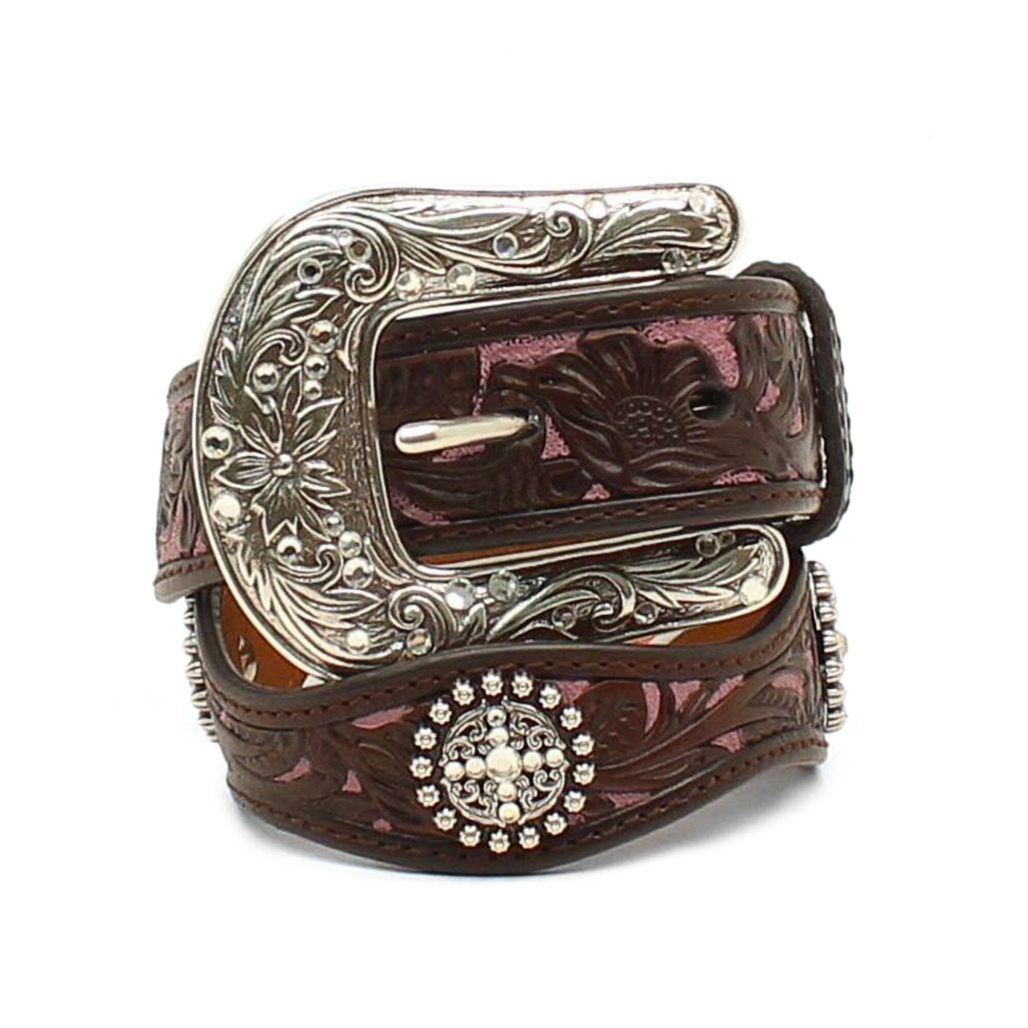 Scalloped Concho Overlay Belt