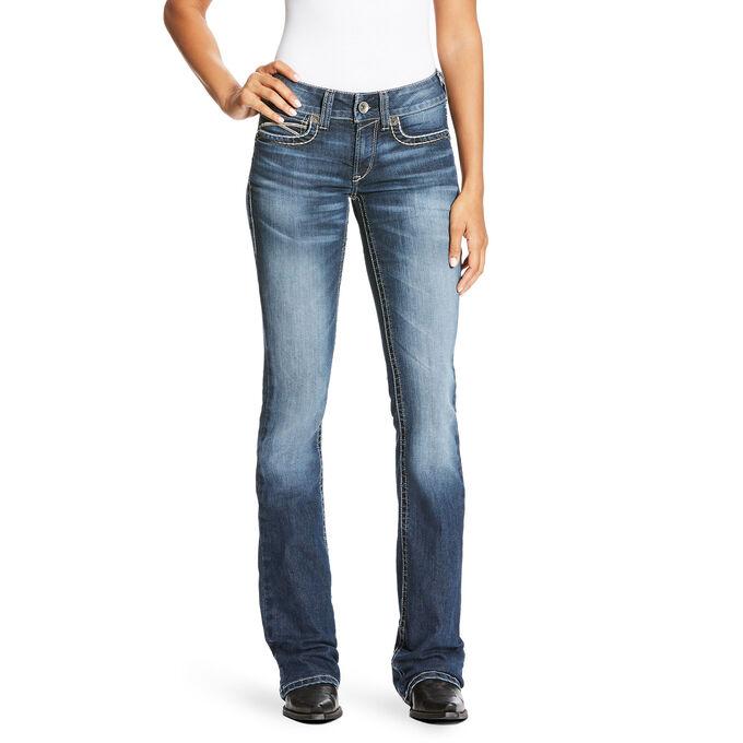 R.E.A.L Mid Rise Diamond Boot Cut Jean