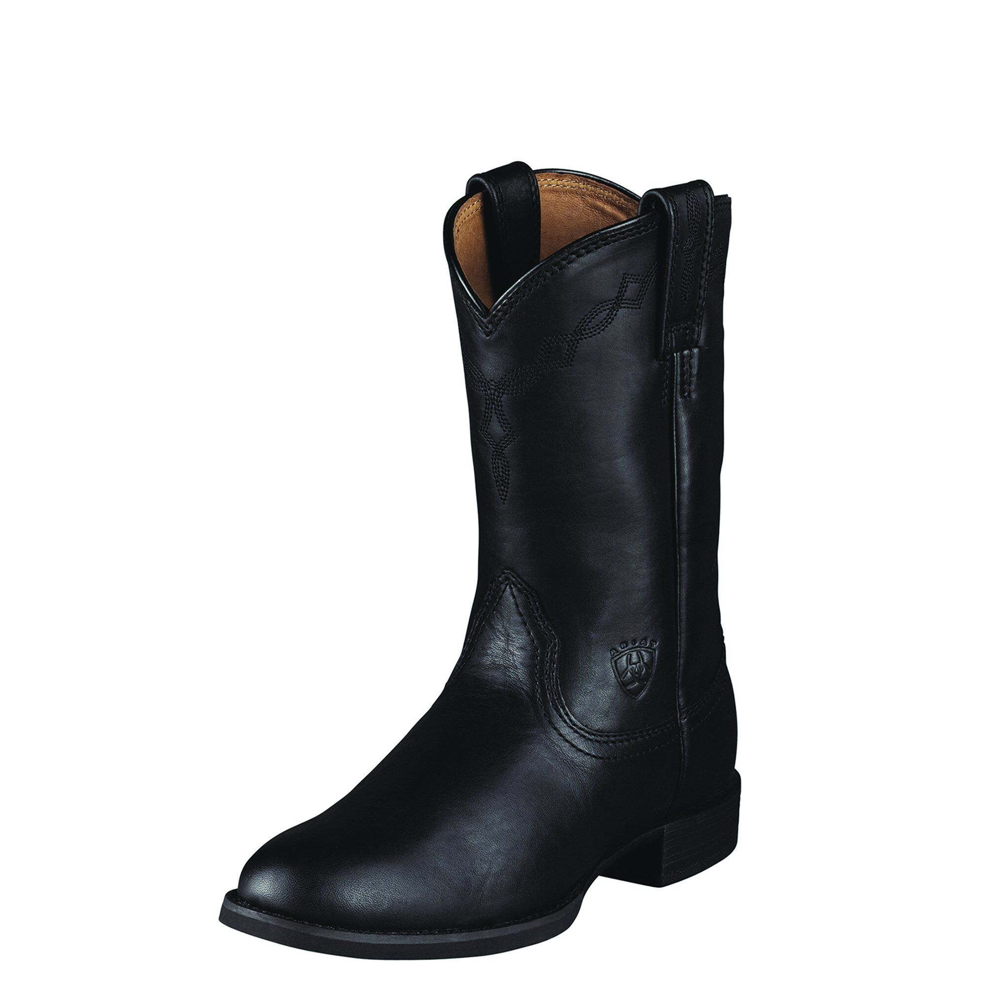 Women's Heritage Roper Western Boots in Black Leather by Ariat