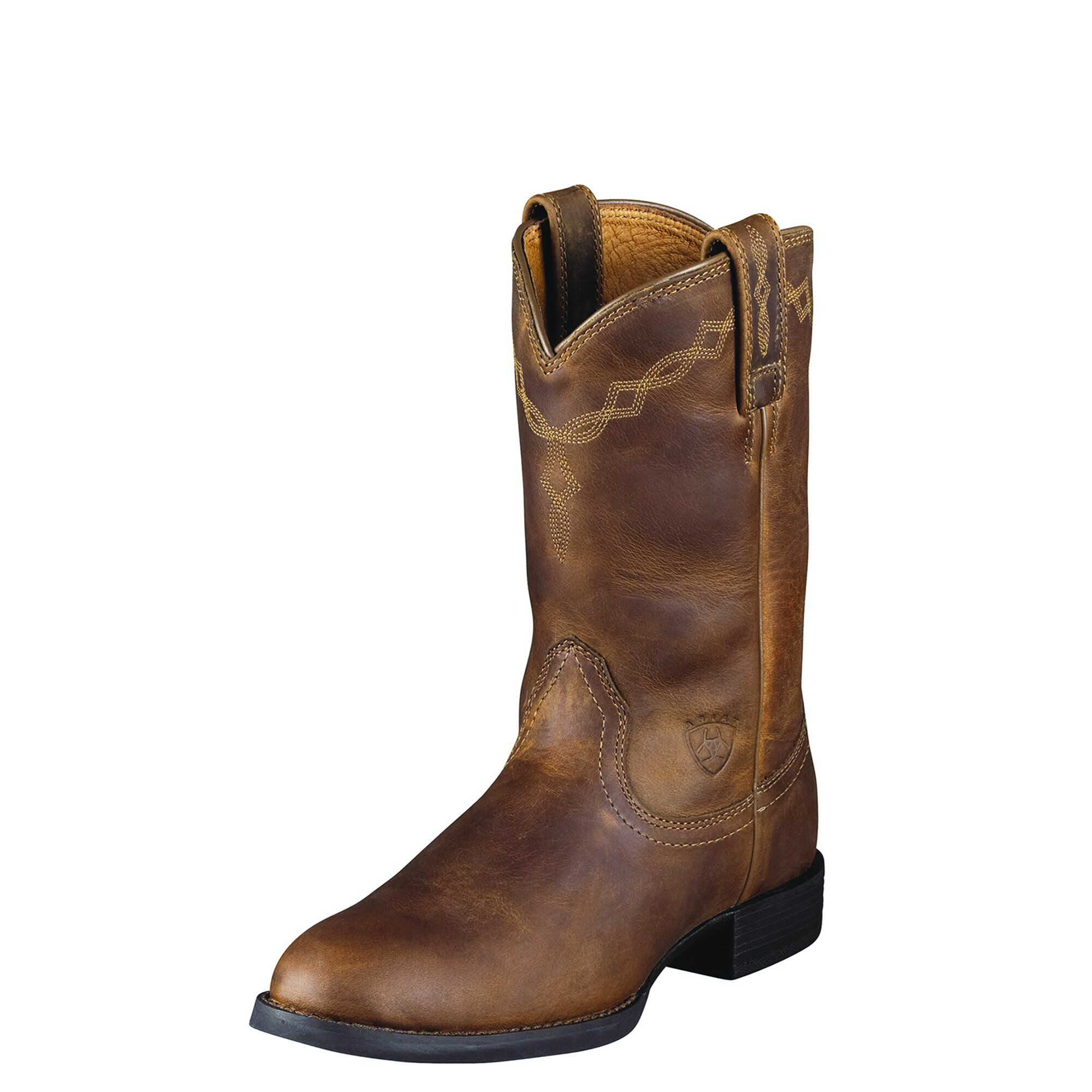Women's Heritage Roper Western Boots in Distressed Brown Leather by Ariat