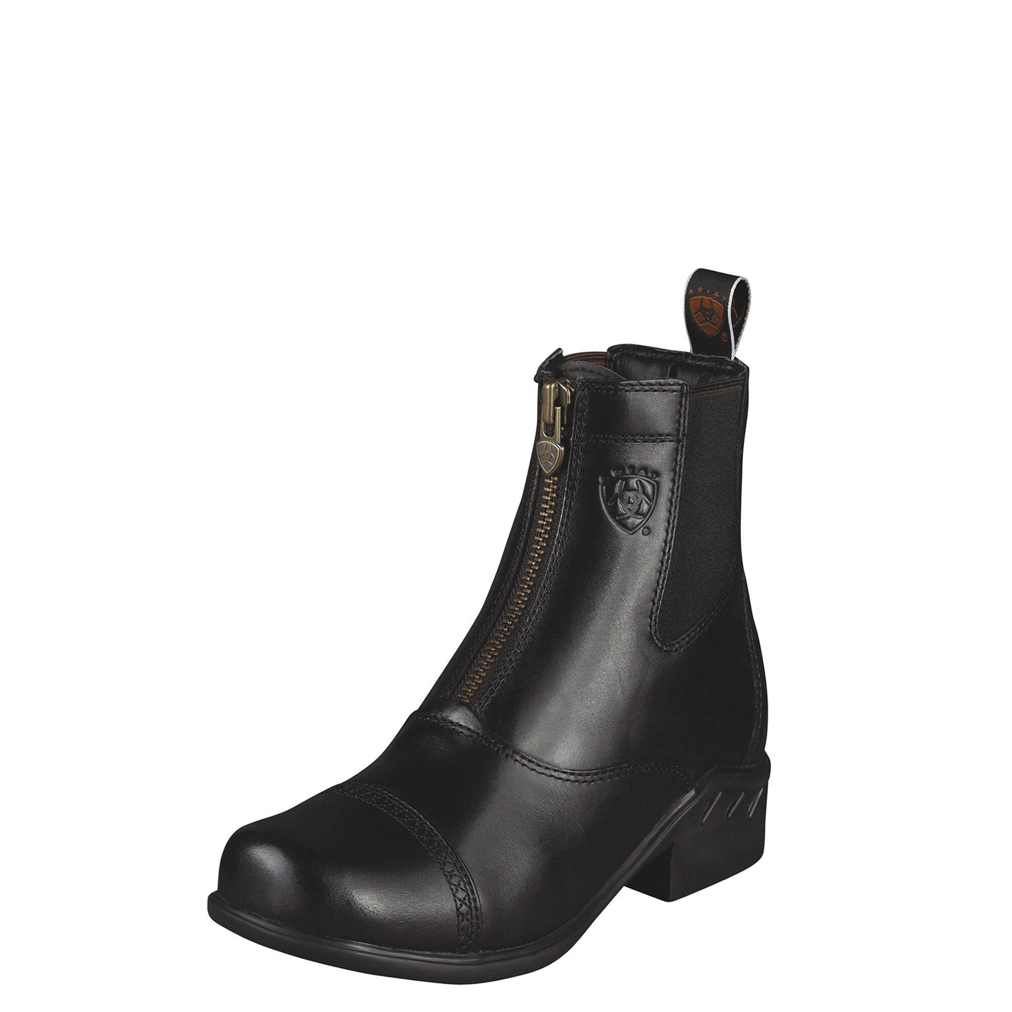 Women's Heritage RT Zip Paddock Paddock Boots in Black by Ariat