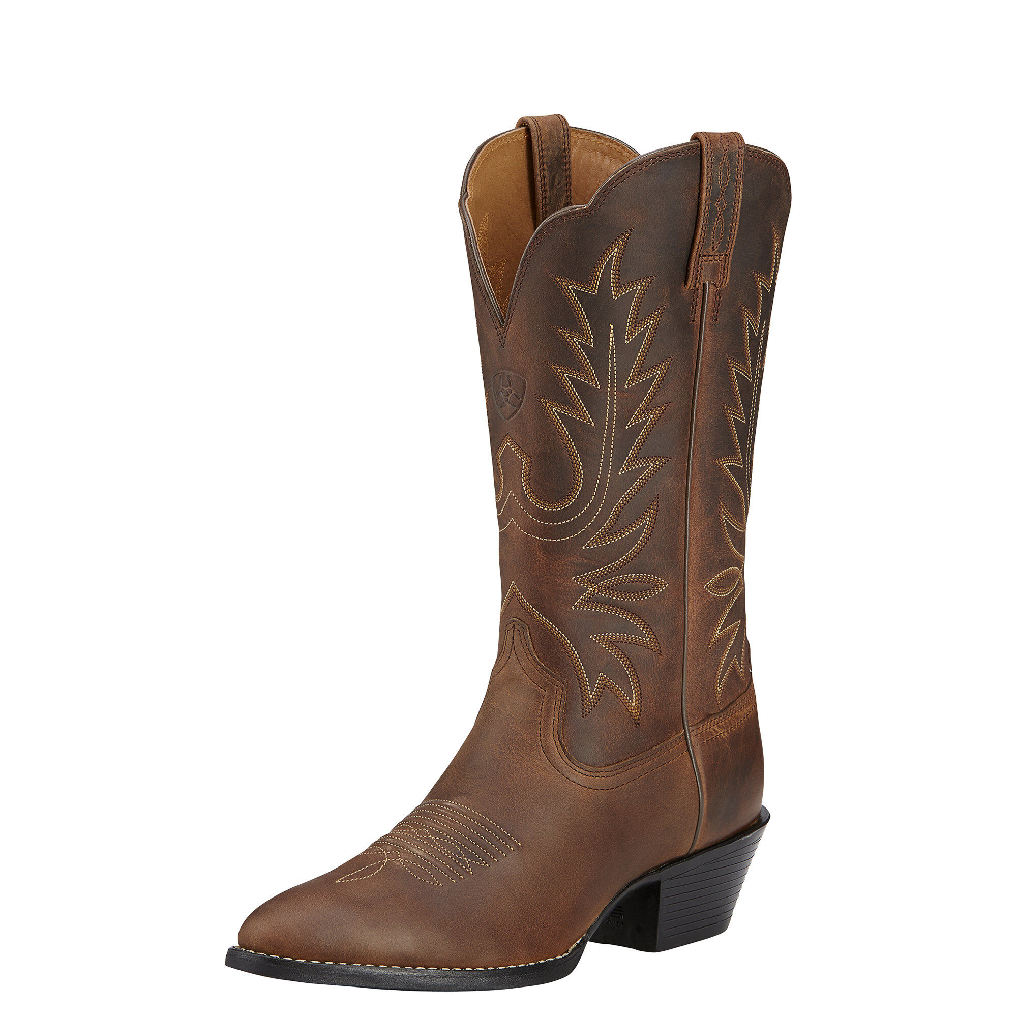 Women's Heritage R Toe Western Boots in Distressed Brown by Ariat