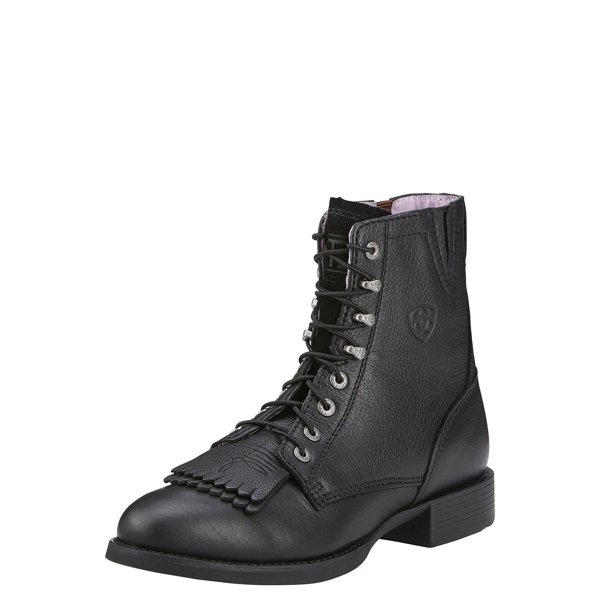Women's Heritage Lacer II Boots in Black Deertan by Ariat