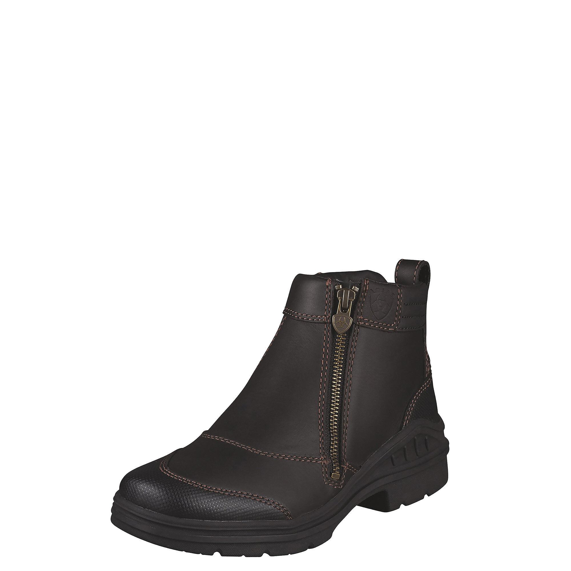 Ariat Women's Barnyard Side Zip Boots in Dark Brown