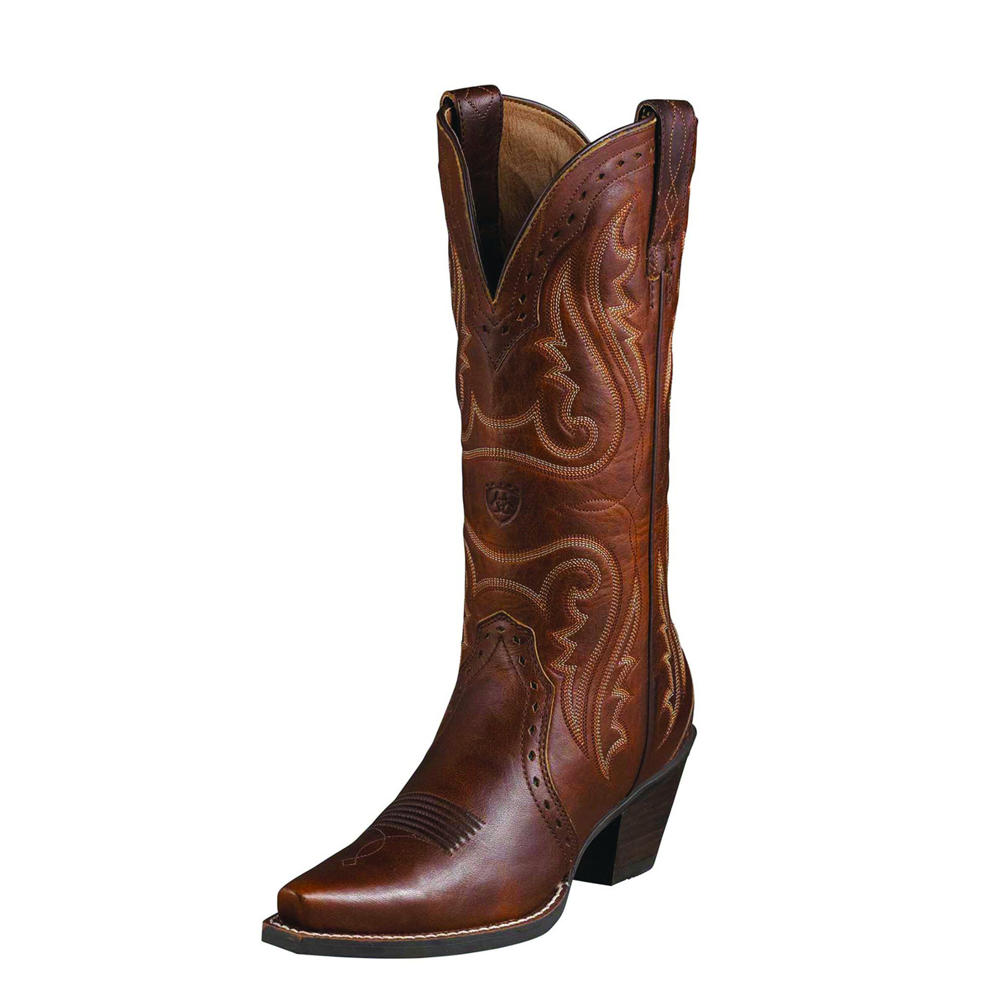 Women's Heritage Western X Toe Western Boots in Vintage Carmel Leather by Ariat