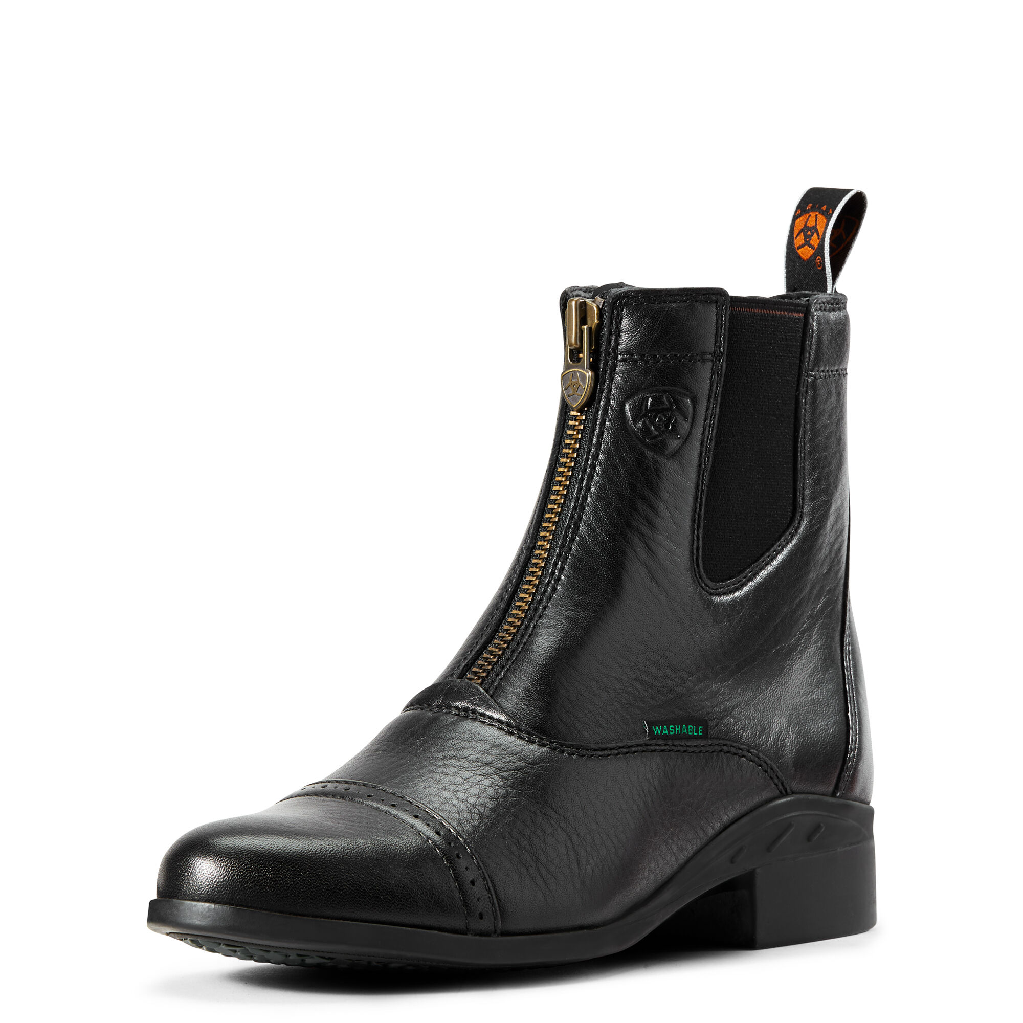 Women's Heritage Breeze Zip Paddock Paddock Boots in Black Leather by Ariat