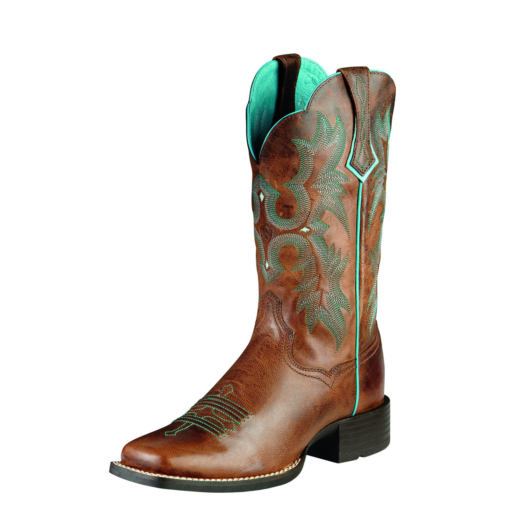 Ariat Tombstone Western Boots in Sassy Brown Leather