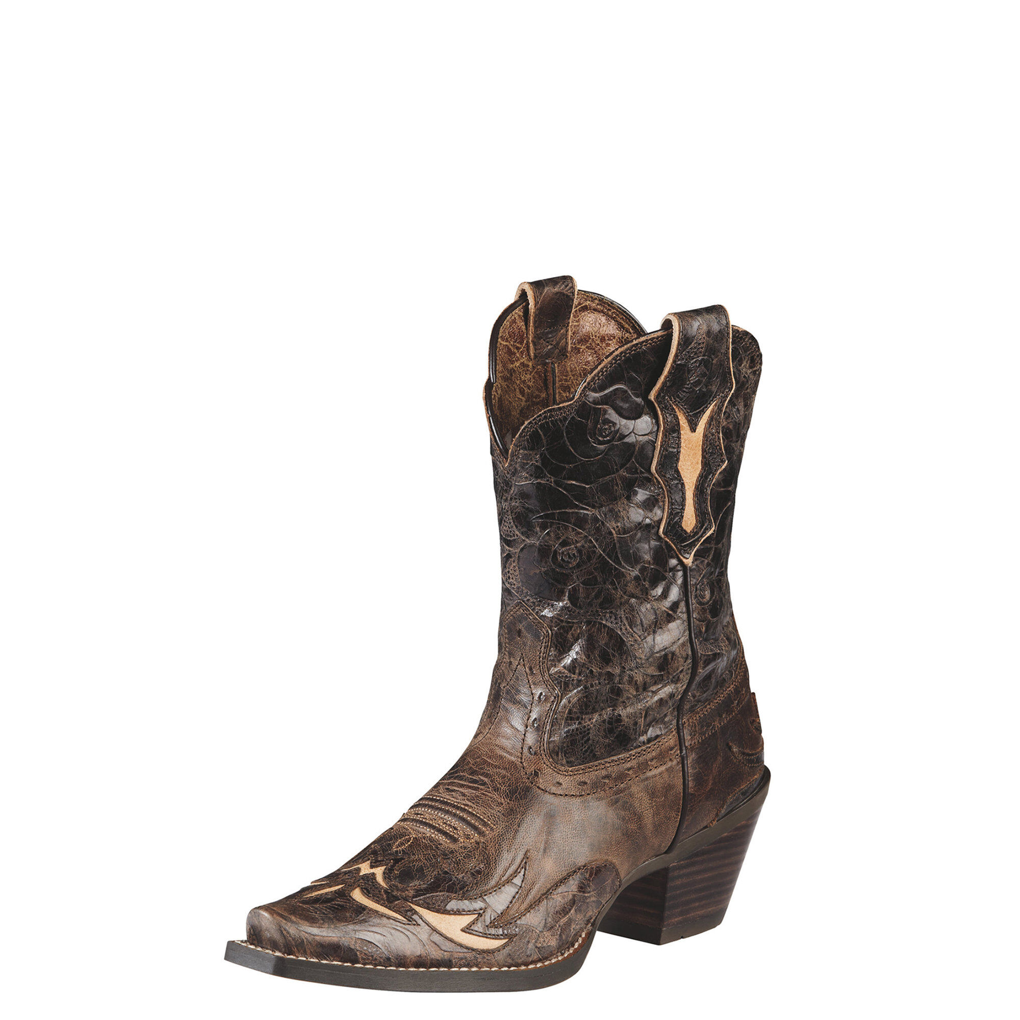 Ariat Women's Dahlia Western Boots in Silly Brown Leather