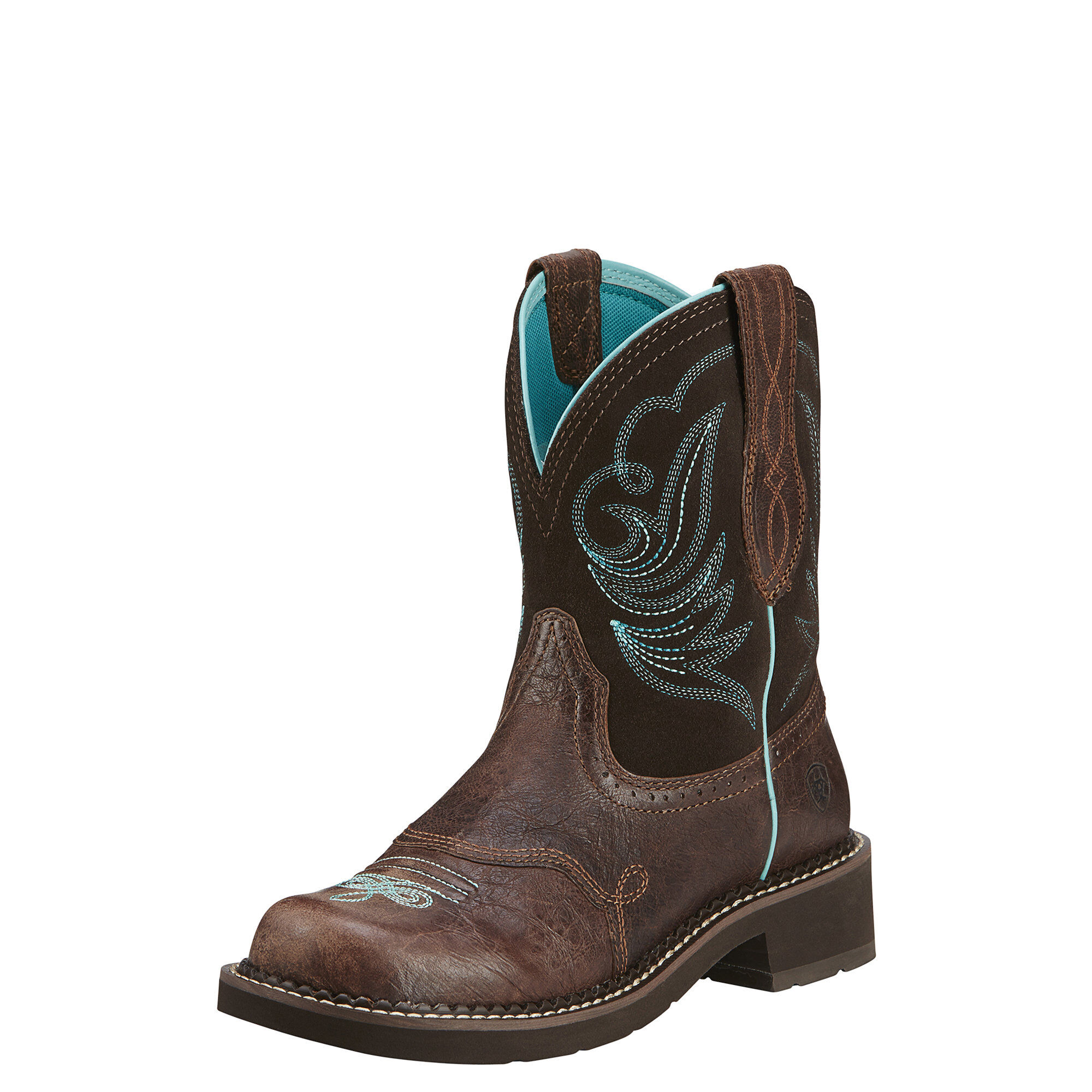 Women's Fatbaby Heritage Dapper Western Boots in Royal Chocolate by Ariat