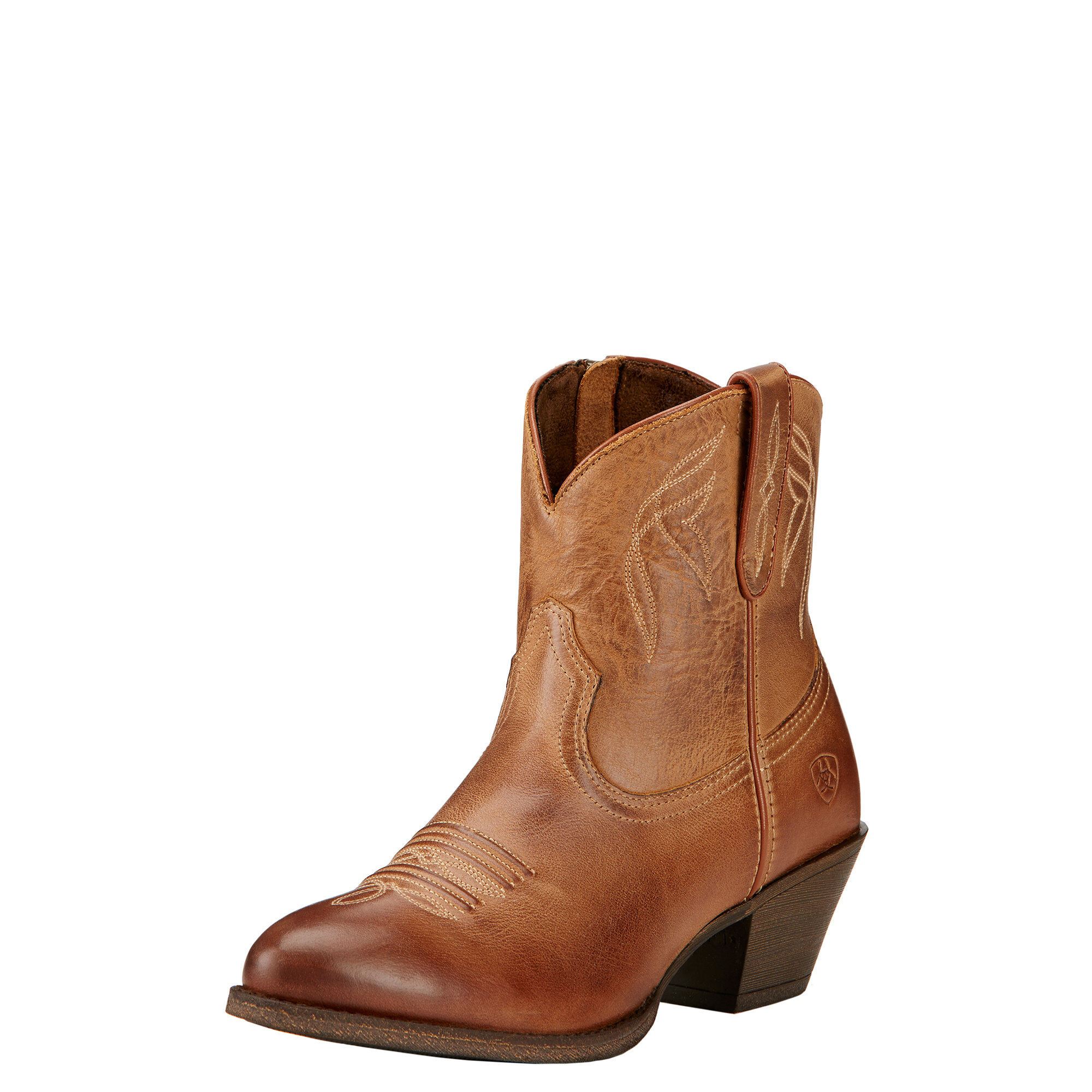 Women's Darlin Western Boots in Burnt Sugar Leather by Ariat