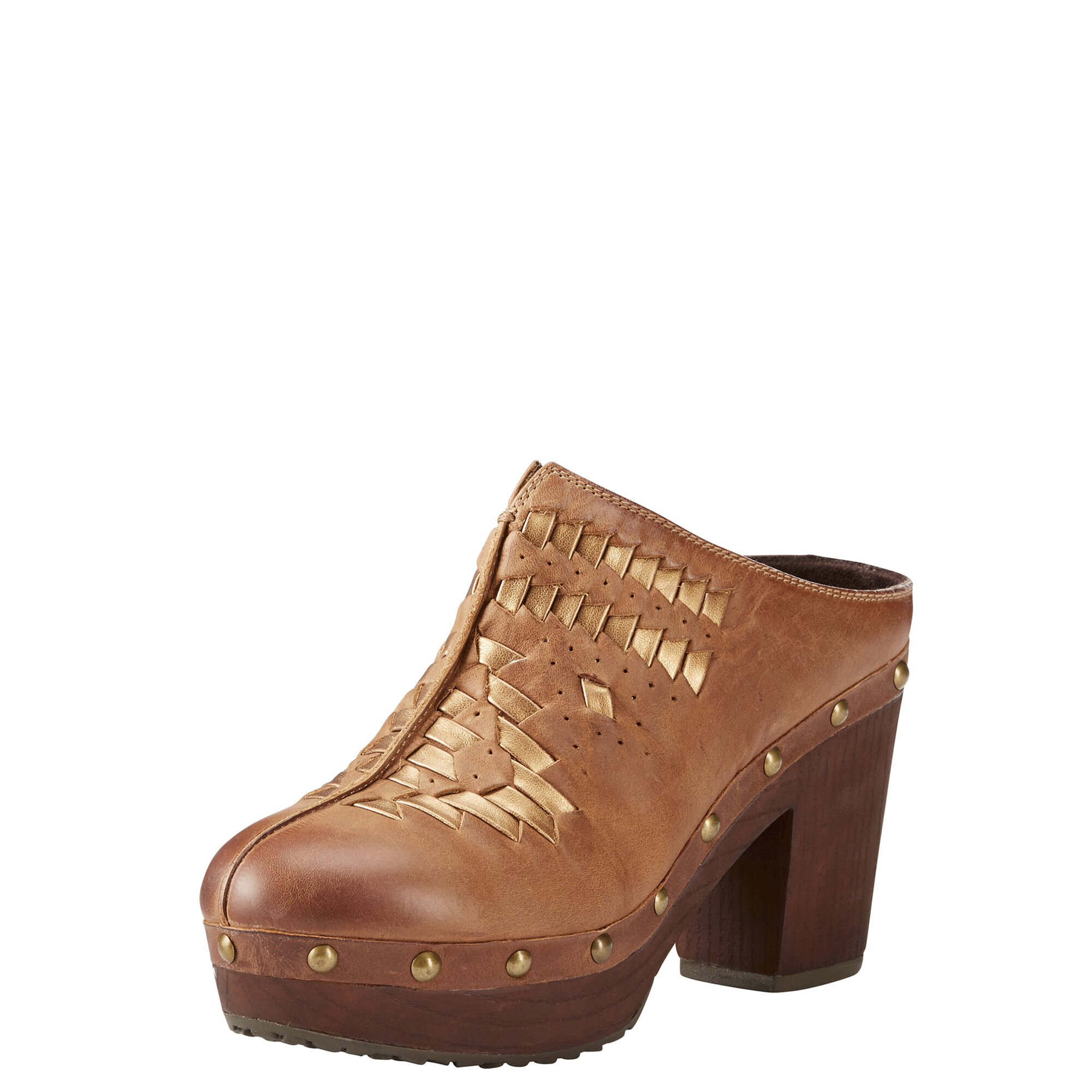 Women's Bria Western Boots in Bronzed Brown Leather by Ariat