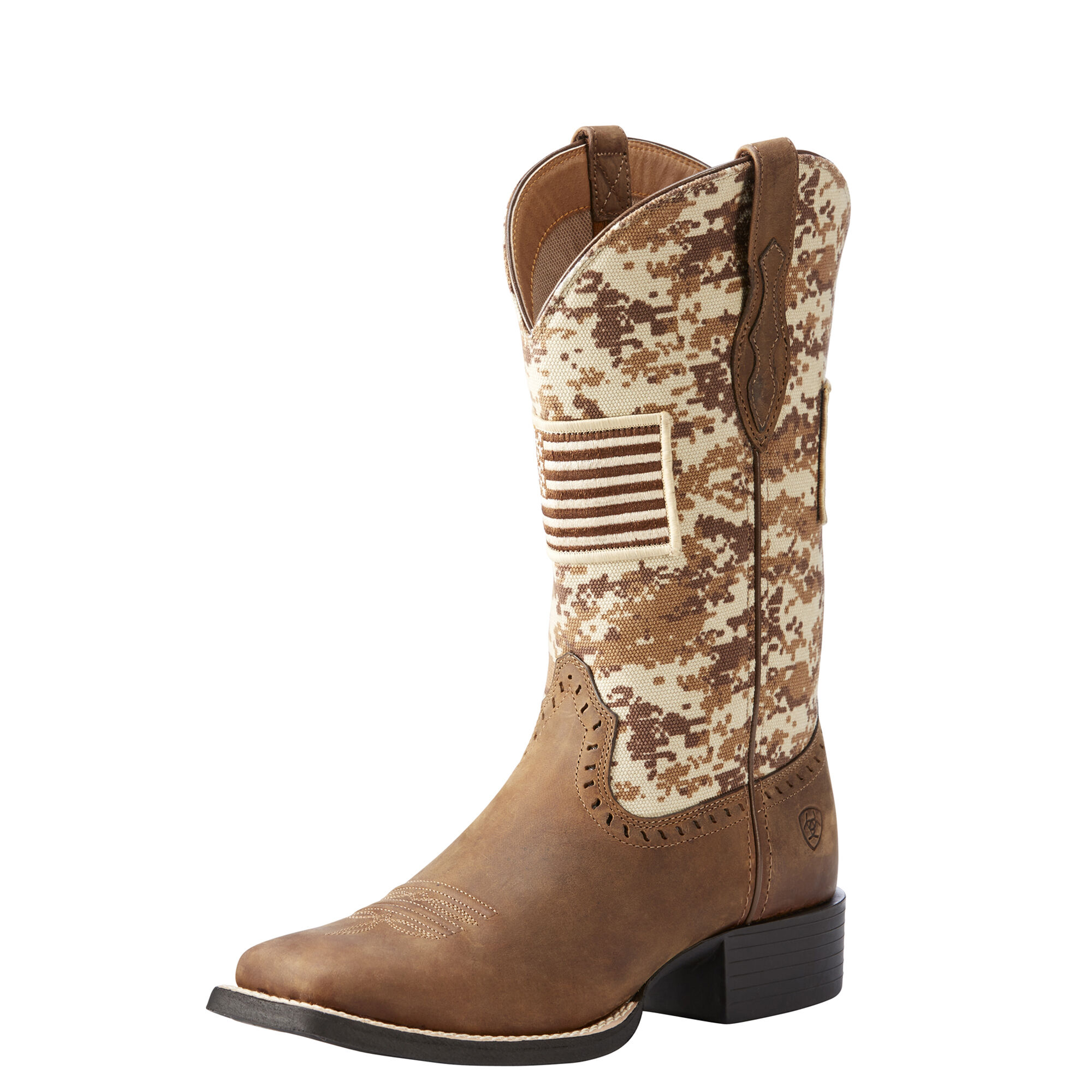 Women's Round Up Patriot Western Boots in Distressed Brown by Ariat