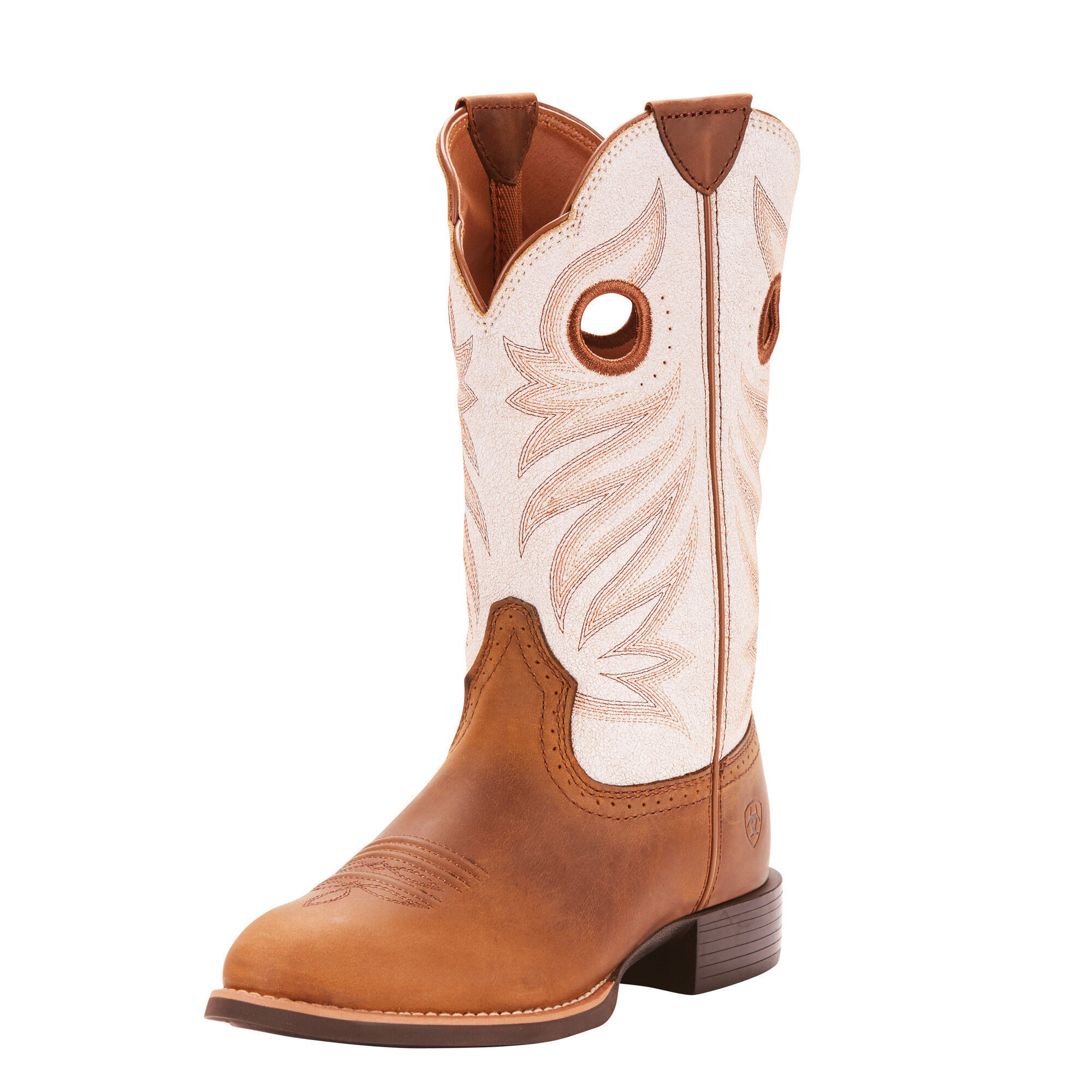Women's Round Up Stockman Western Boots in Crushed Peanut by Ariat