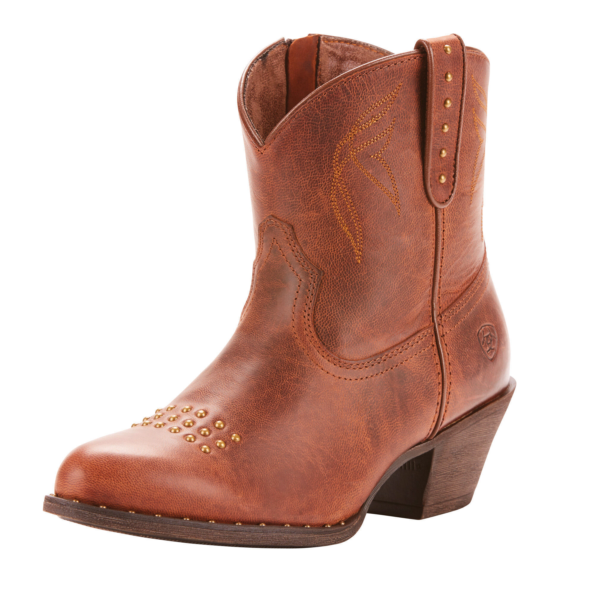 Women's Dakota Western Boots in Sassy Brown Leather by Ariat