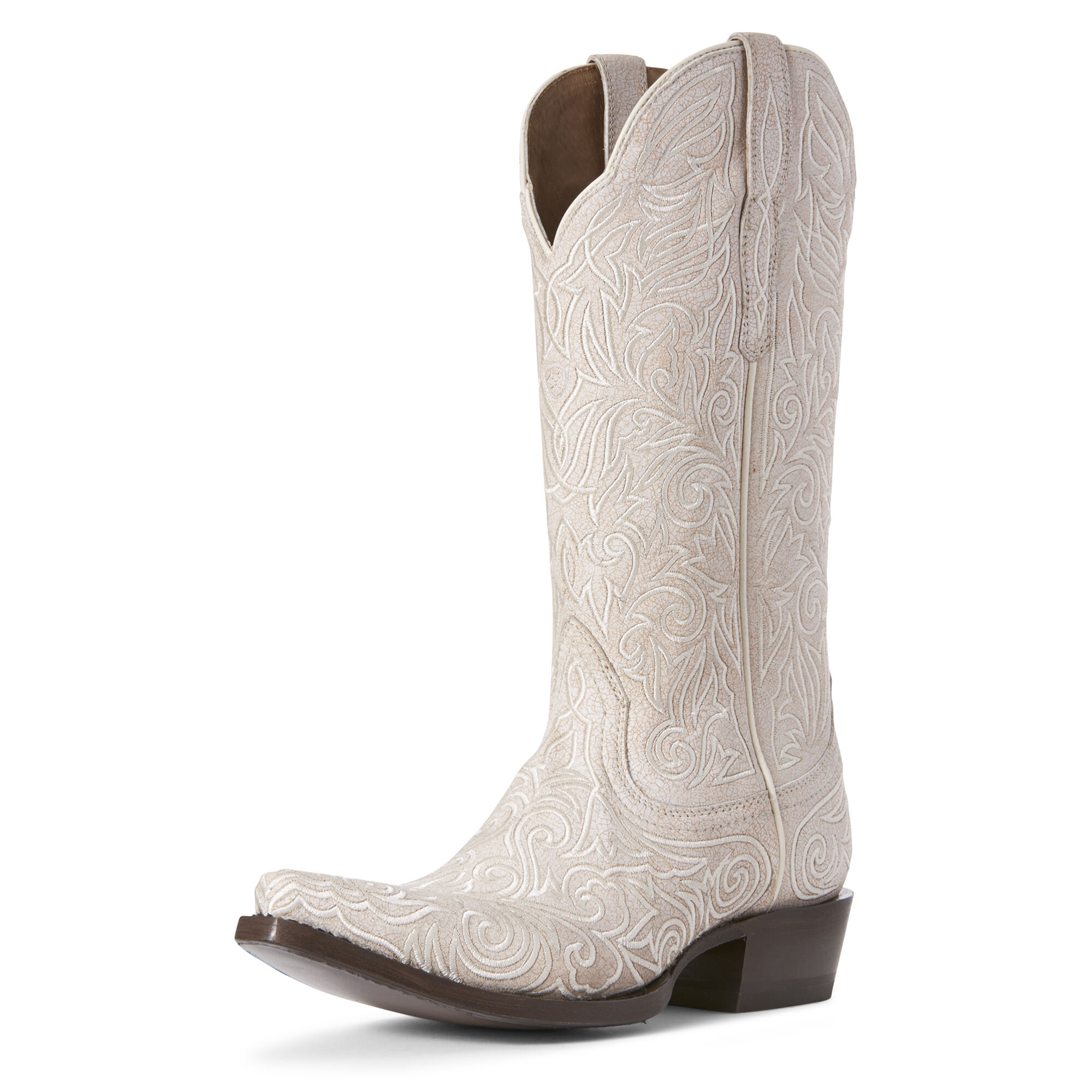 Women's Sterling Western Boots in Crackled White by Ariat