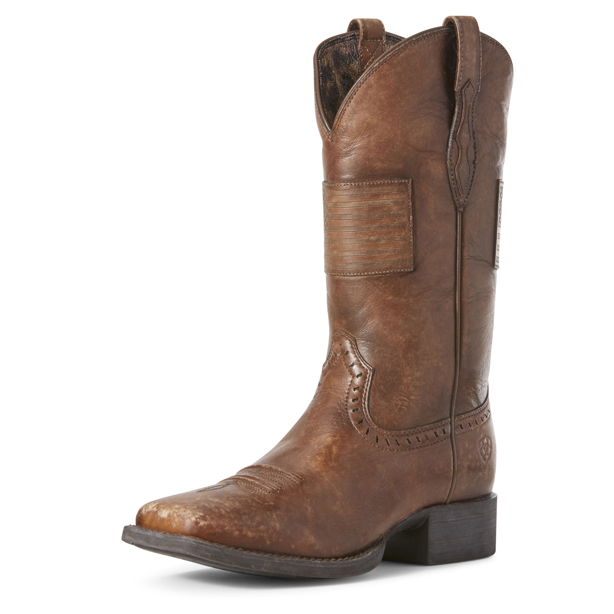 Women's Round Up Patriot Western Boots in Silly Brown by Ariat