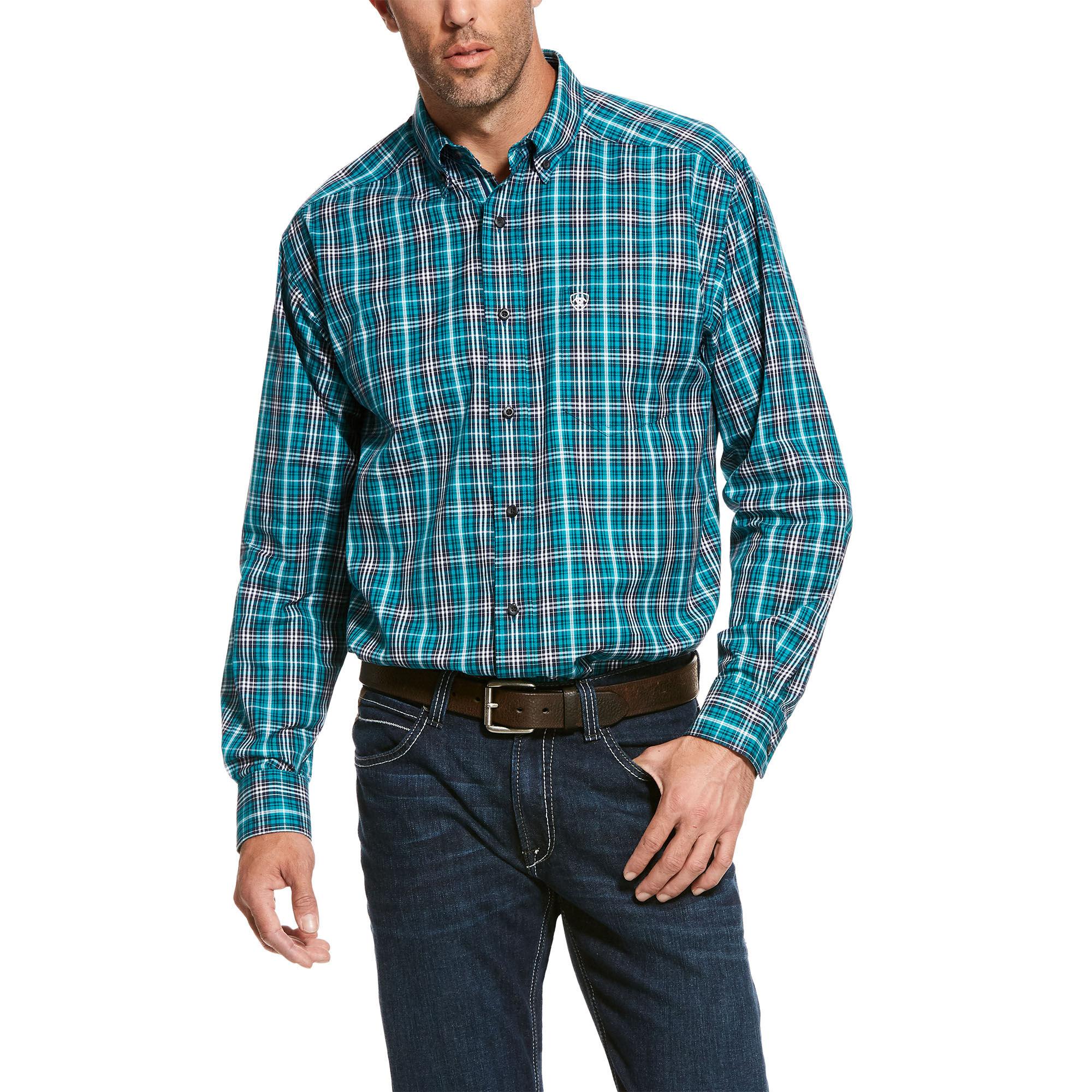 ARIAT Mens Pro Series Ronaldson Stretch Classic Fit Shirt