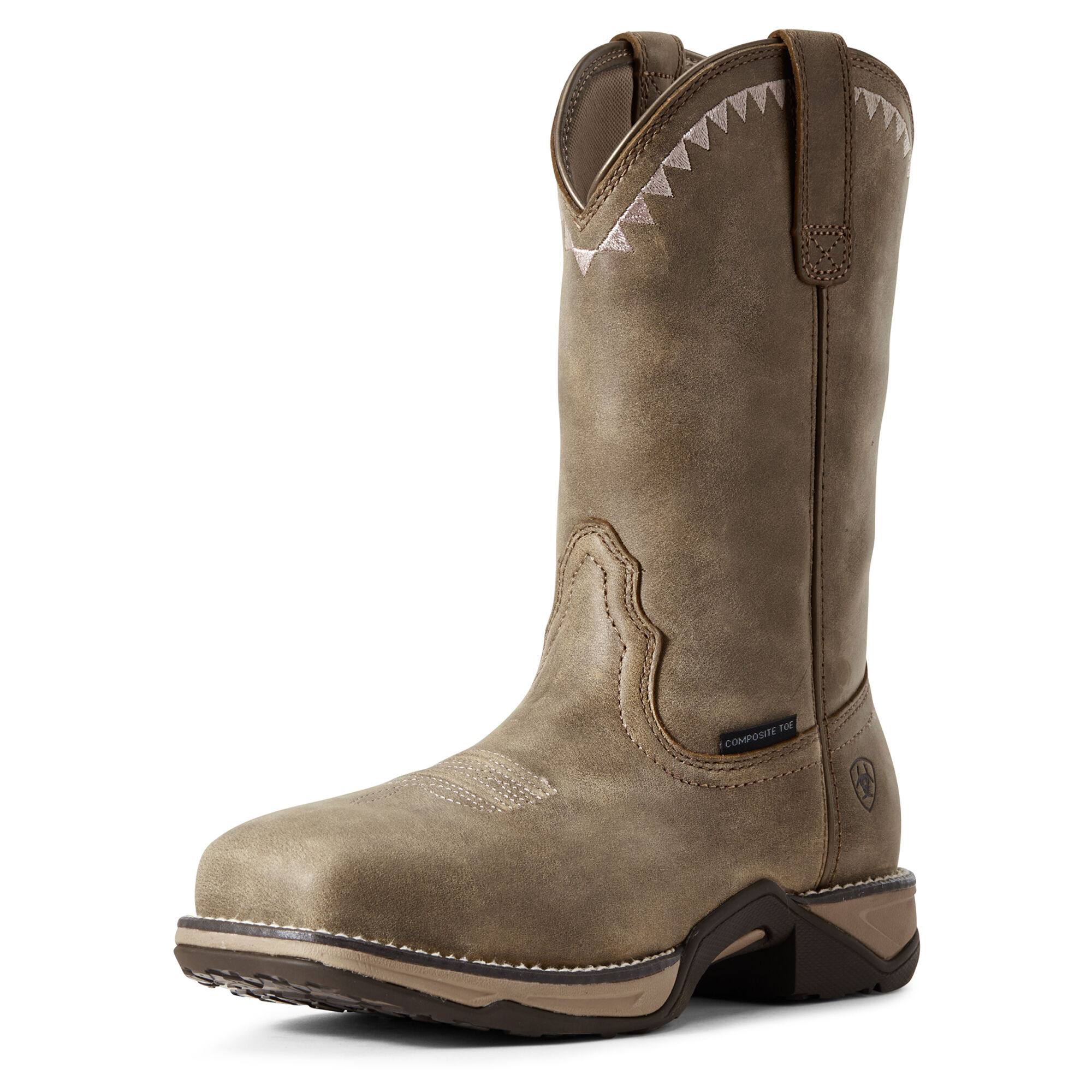 Women's Anthem Deco Composite Toe Work Boots in Brown Bomber by Ariat