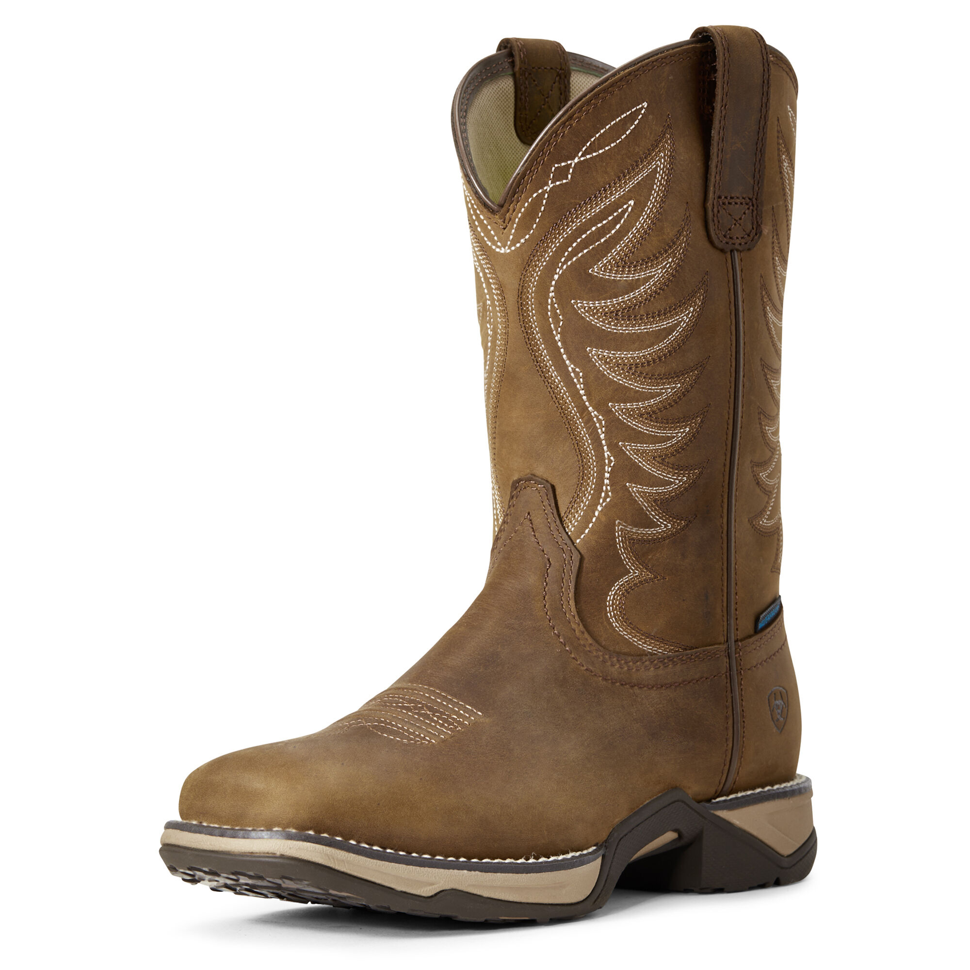Women's Anthem Waterproof Western Boots in Distressed Brown by Ariat