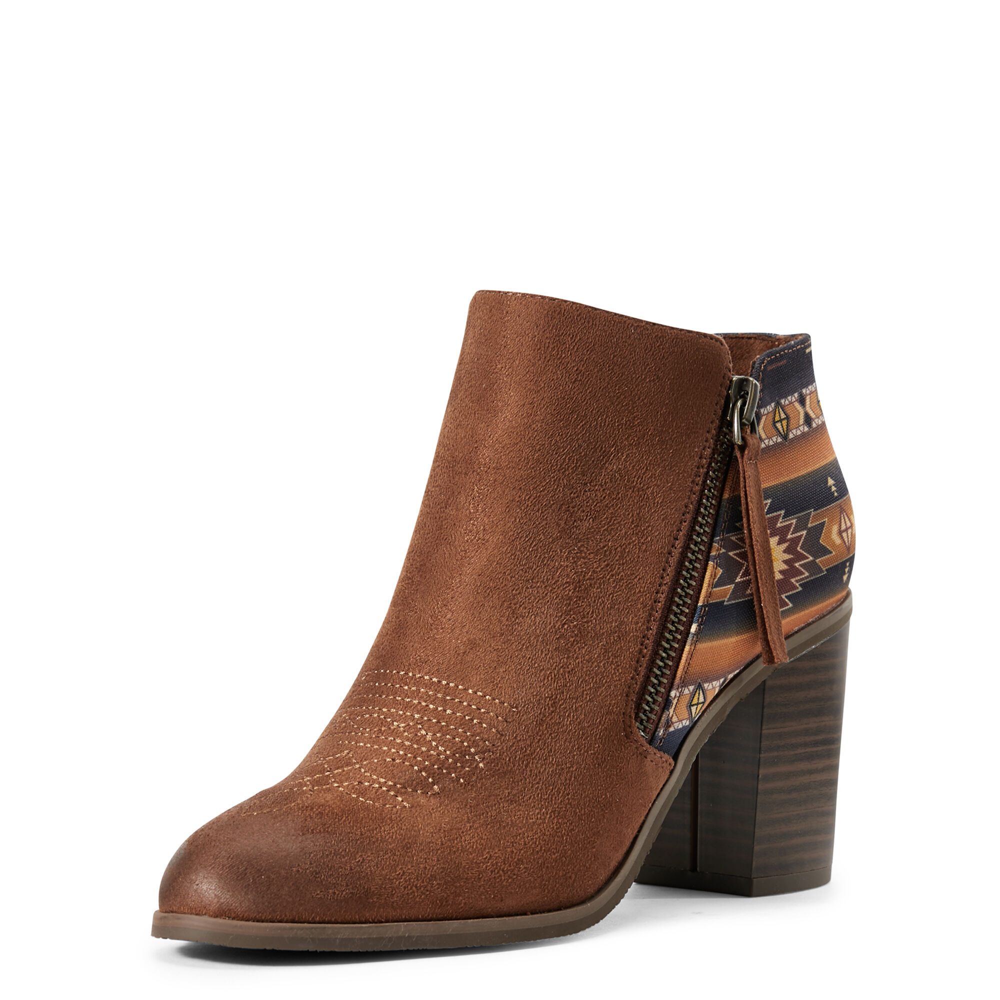 Women's Unbridled Kaylee Boots in Cognac Suede by Ariat