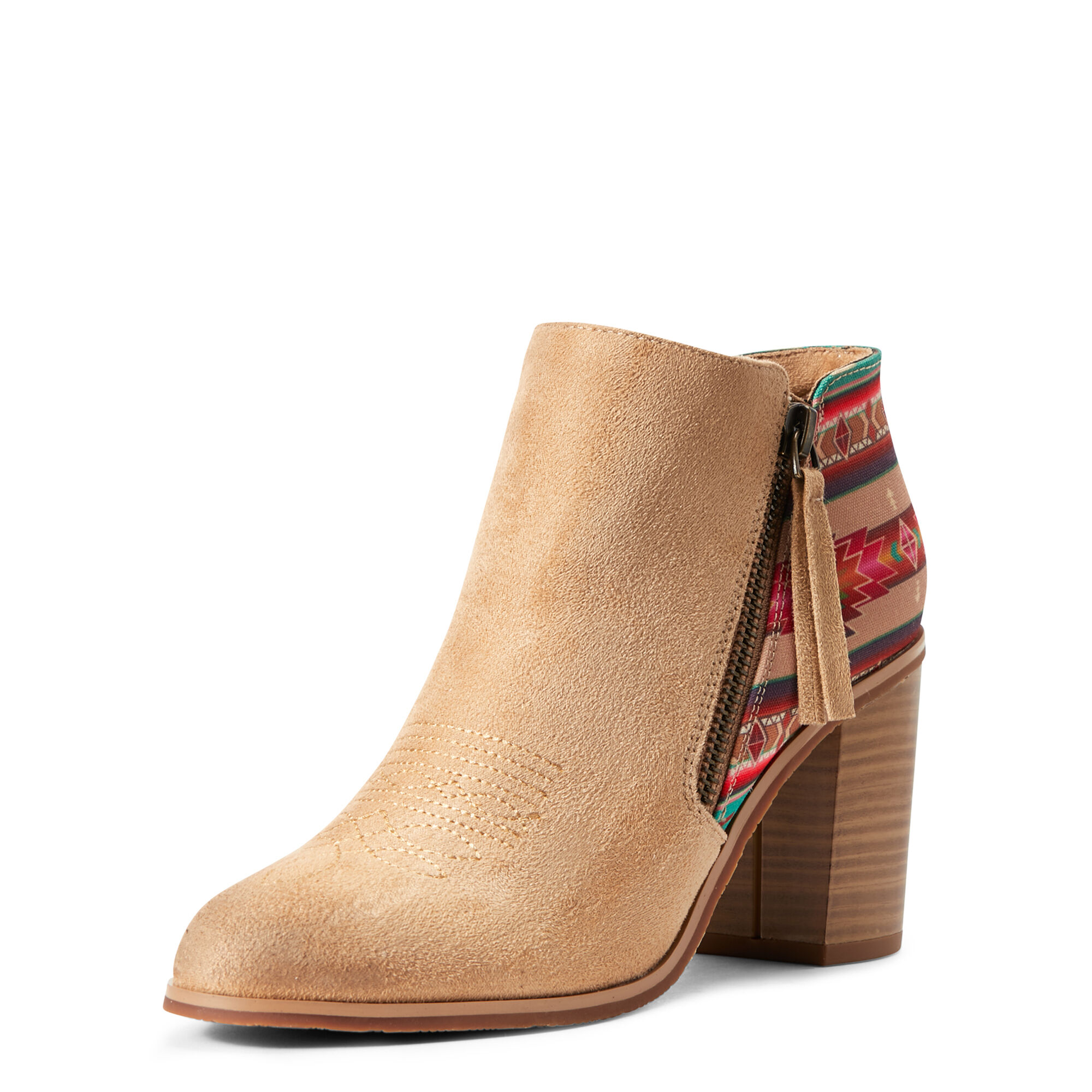 Women's Unbridled Kaylee Boots in Light Tan Suede by Ariat