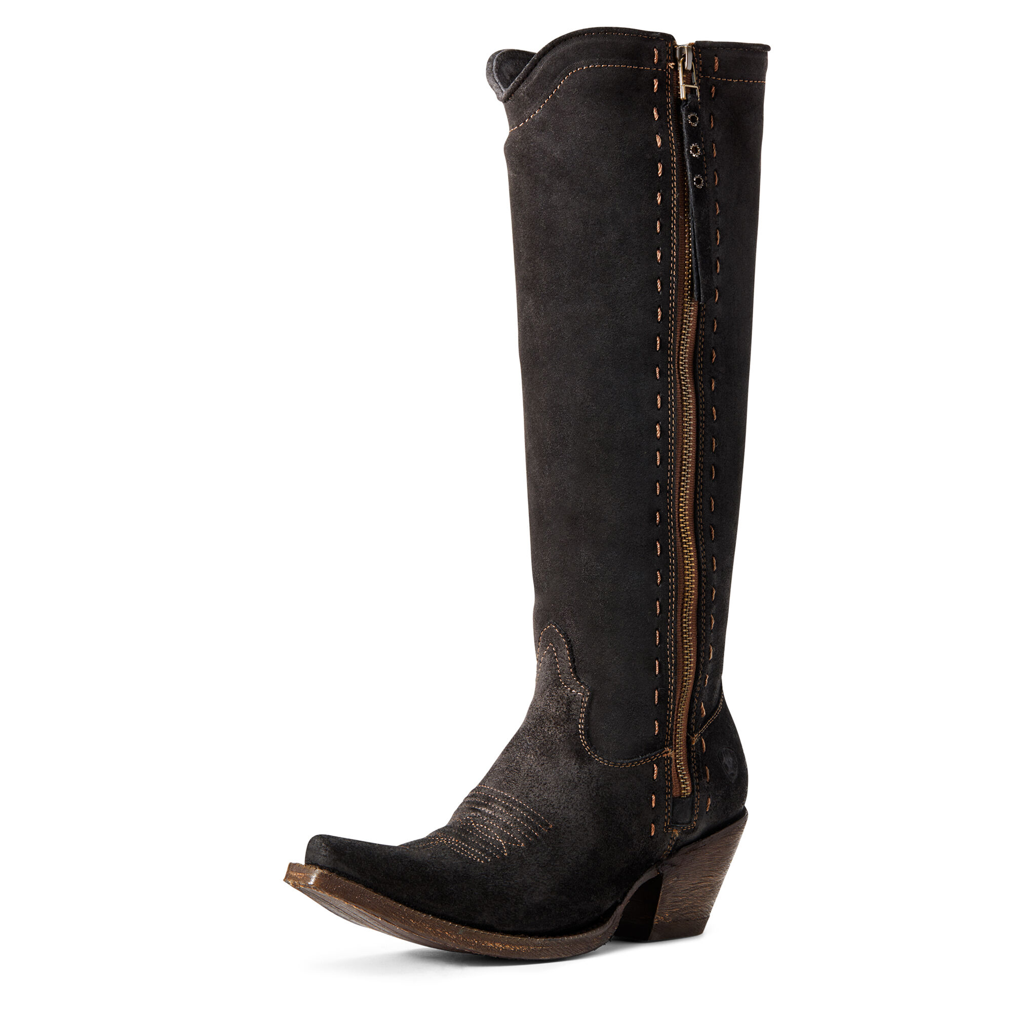 Women's Giselle Western Boots in Black Suede by Ariat
