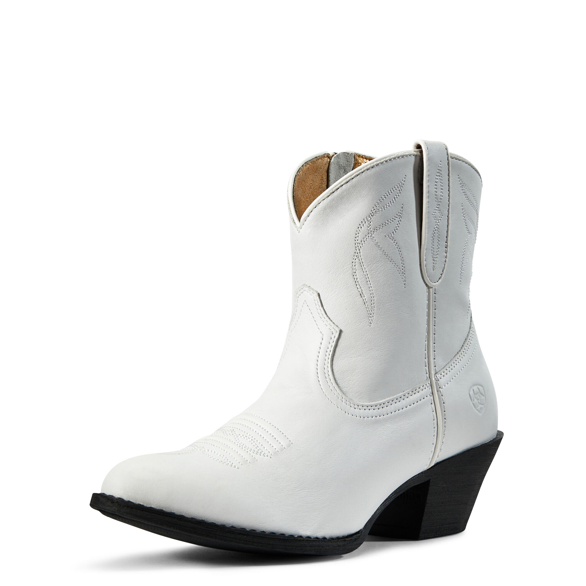 Women's Darlin Western Boots in White Leather by Ariat