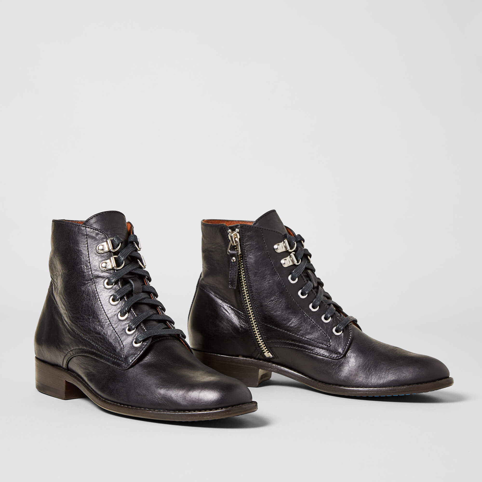 Women's Bancroft Ankle Boots in Black Leather by Ariat Two24