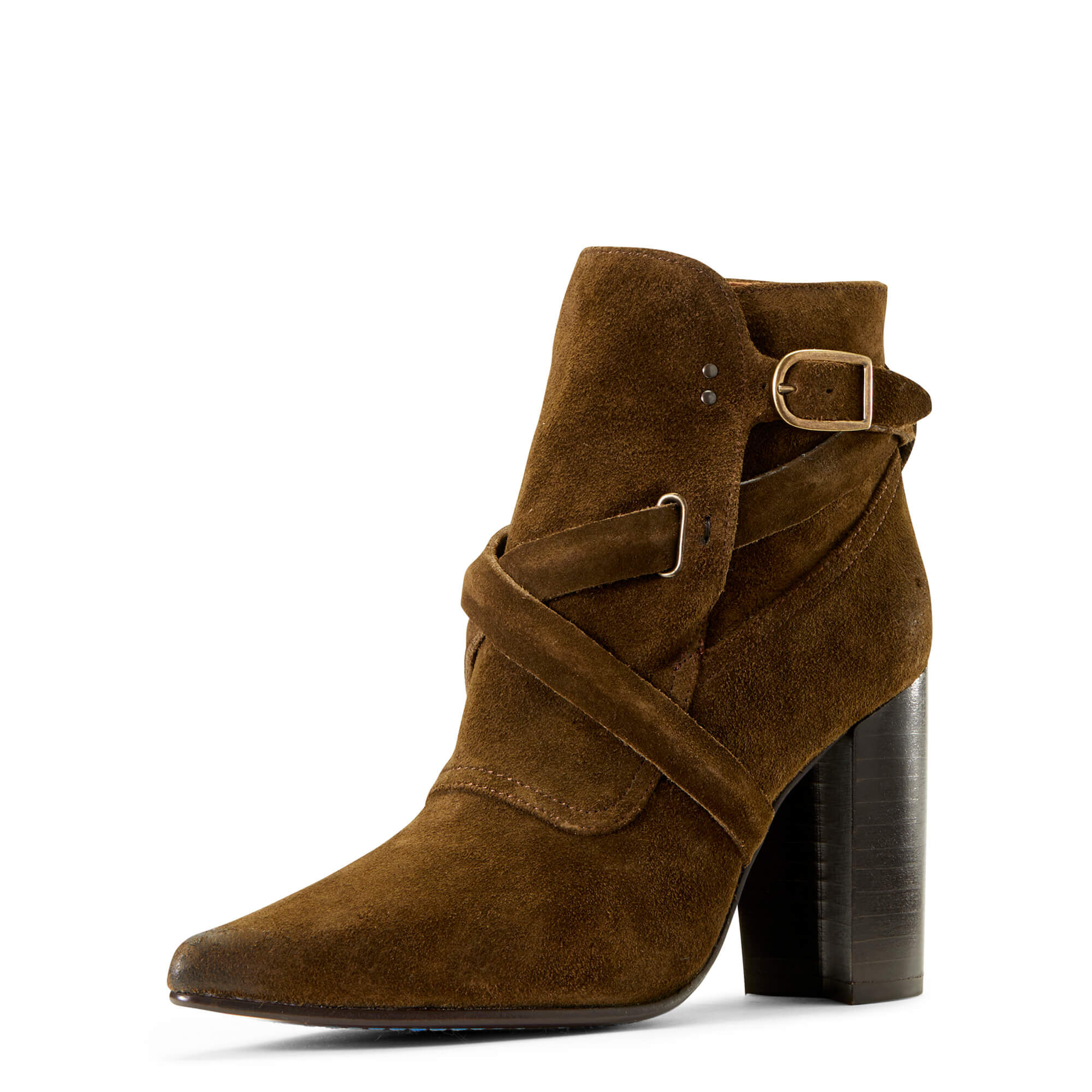 Women's Dimond Boots in Olive Suede Leather by Ariat Two24