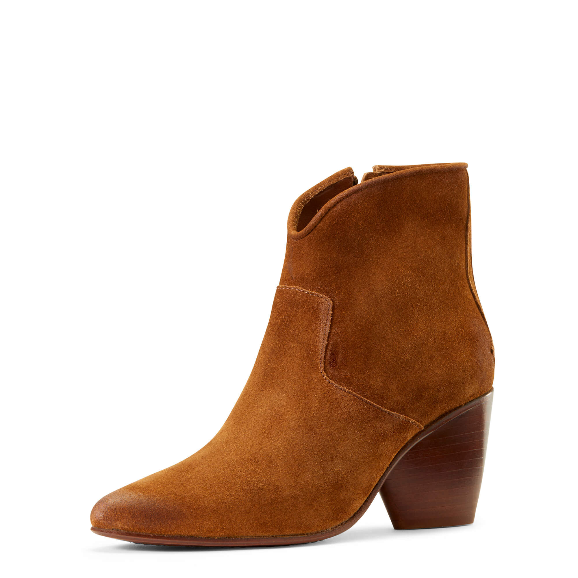 Women's Meadow Brook Ankle Boots in Saddle Suede Leather by Ariat Two24