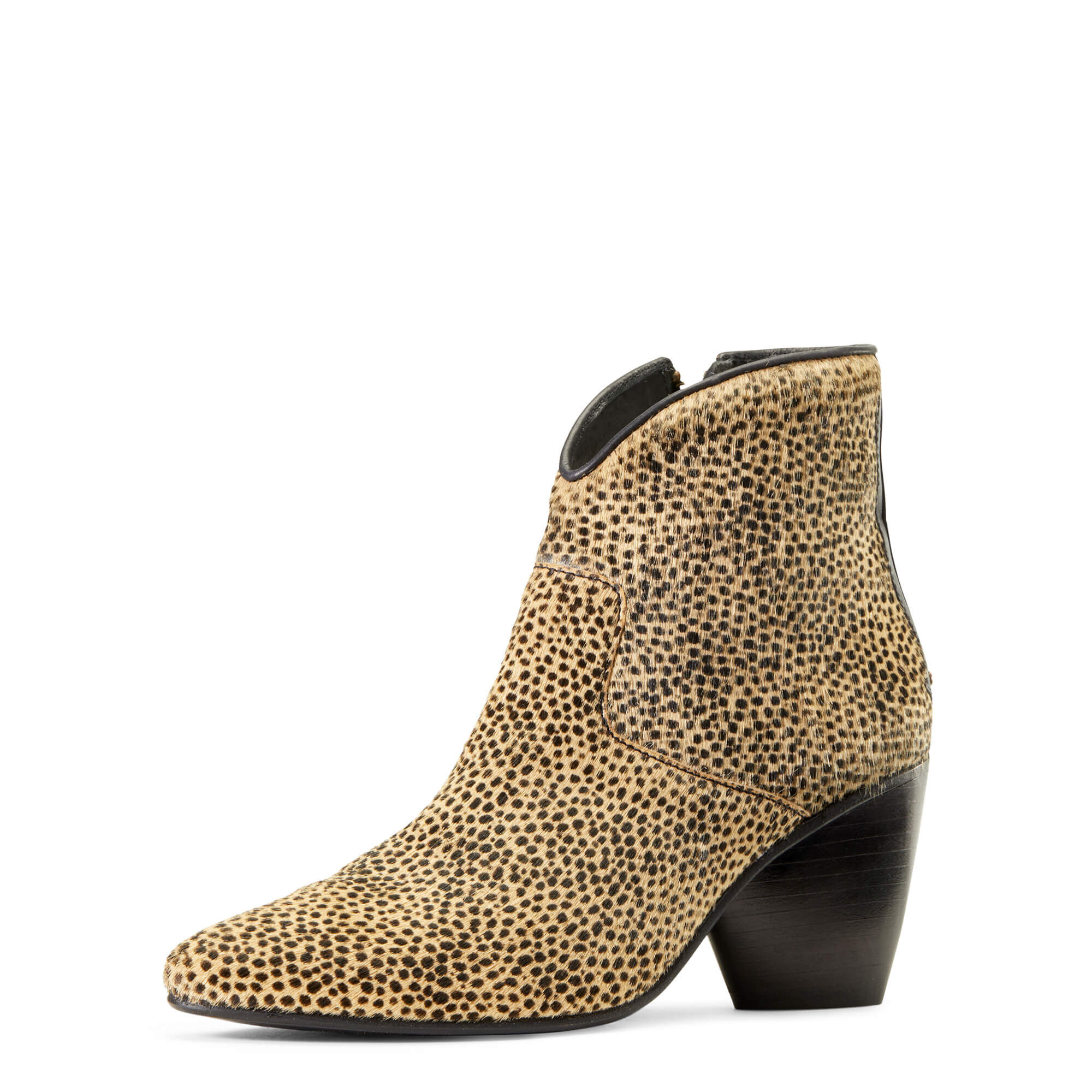 Women's Meadow Brook Ankle Boots in Cheetah Hair-On Leather by Ariat Two24