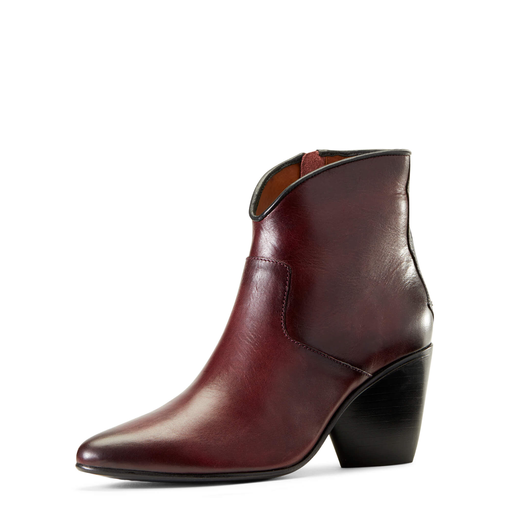 Women's Meadow Brook Ankle Boots in Vino Leather by Ariat Two24