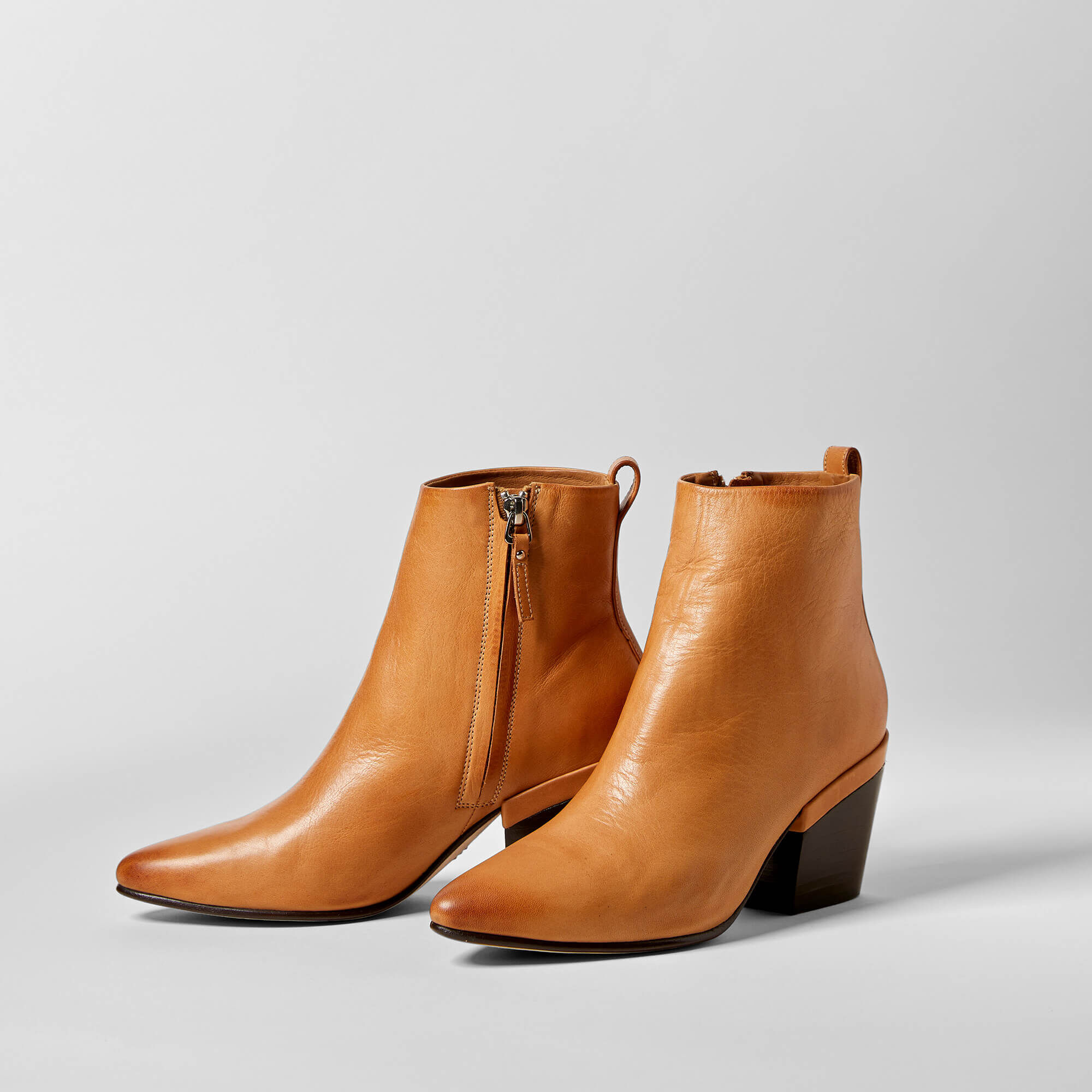 Women's Selena Booties in Natural Tan Leather by Ariat Two24