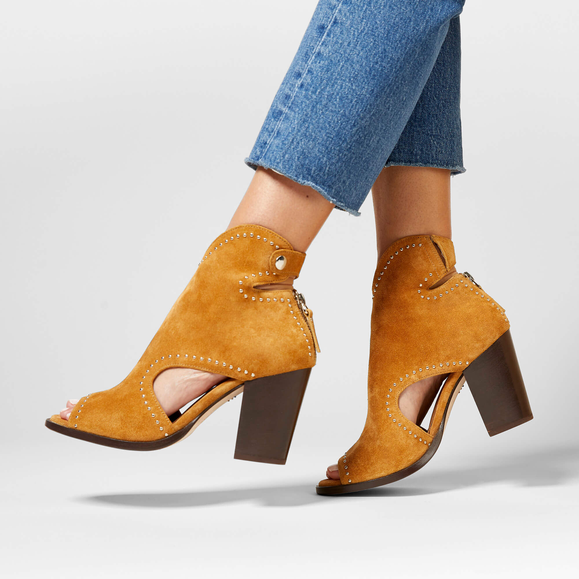 Women's Sydney Booties in Camel Suede Leather by Ariat Two24