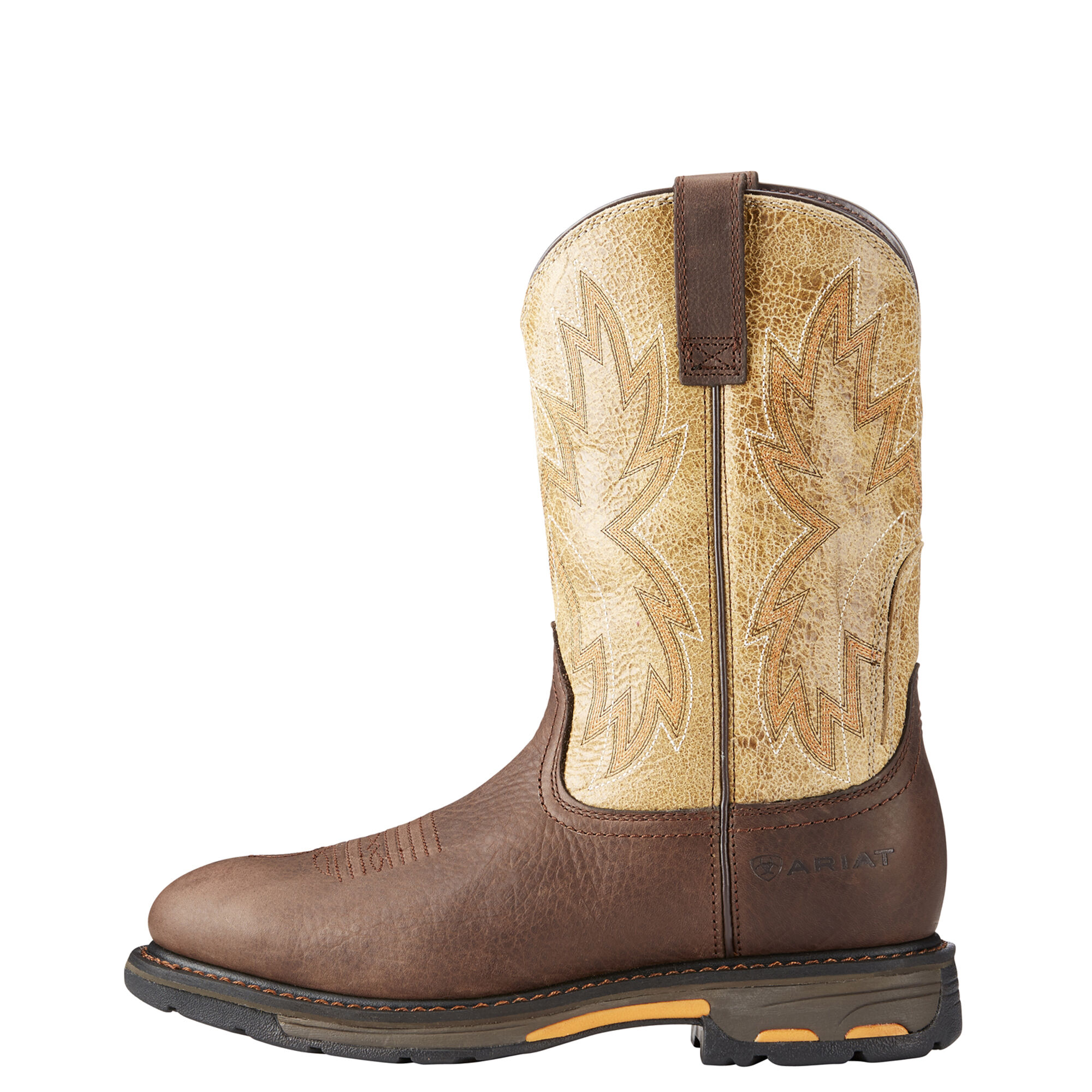 Men's Ariat Workhog Raptor Work Boot, Size: 9.5 D, Earth Leather