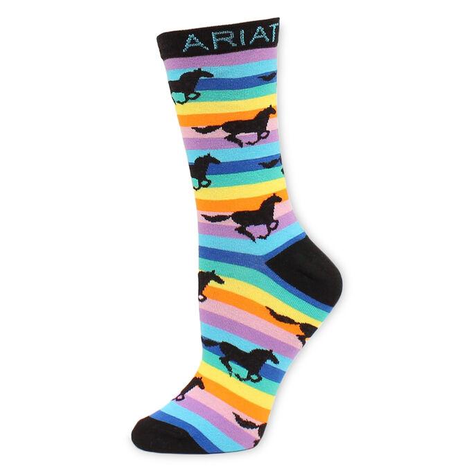 Rainbow Stripe Knee High Sock
