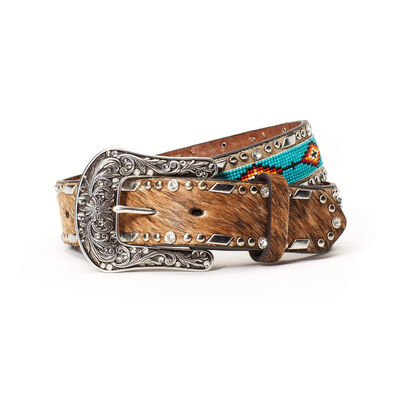 Chevron Floral Tooled Belt