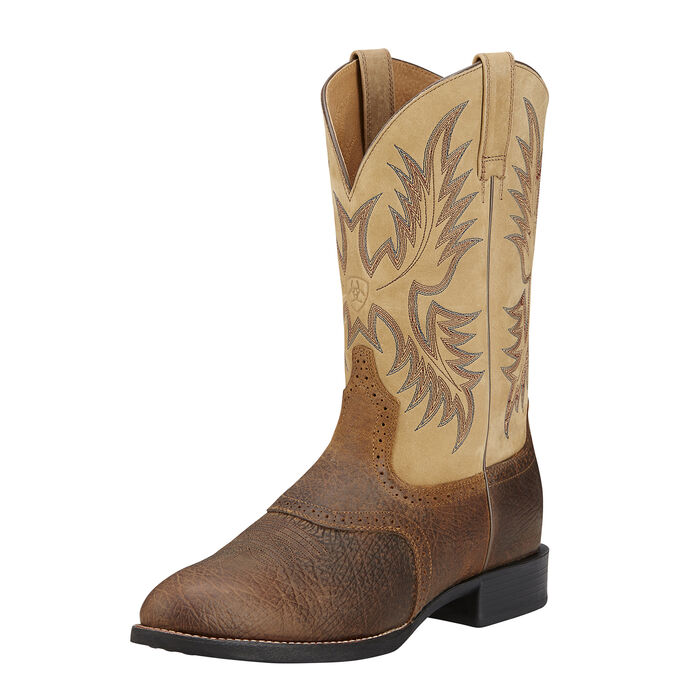 Men's Light Brown Stockman Cowboy Boots