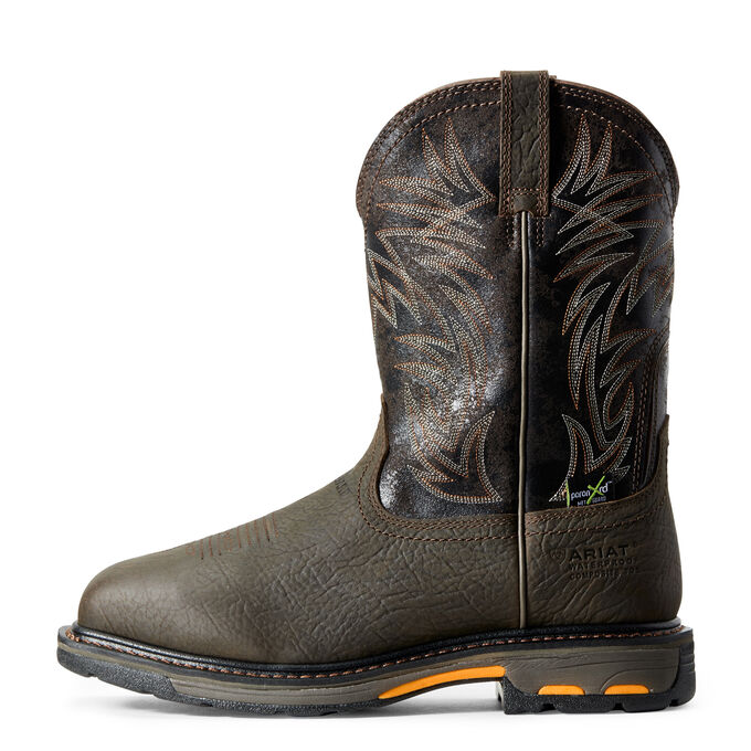 WorkHog Wide Square Toe MetGuard Waterproof MetGuard Composite Toe Work Boot