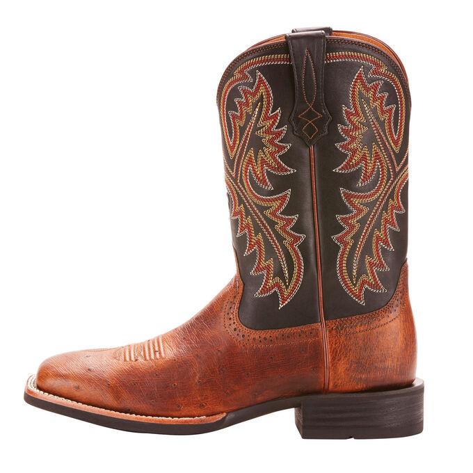 Mens Brown Ostrich Cowboy Boots