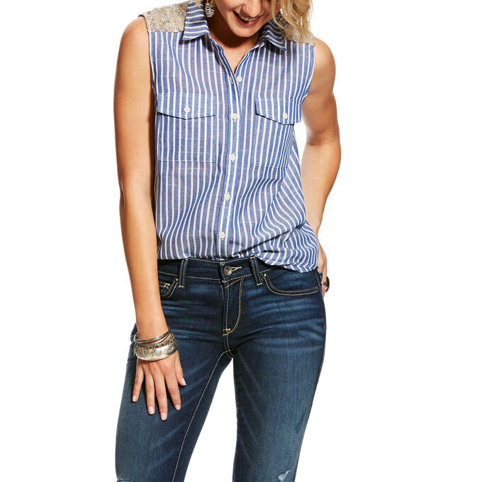 Sequin Stripe Shirt