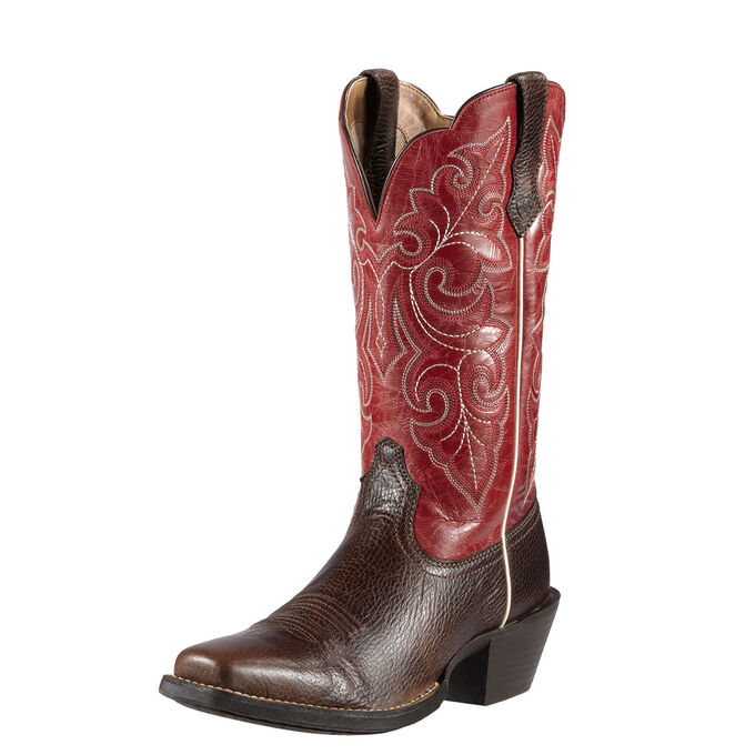 Round Up Square Toe Western Boot