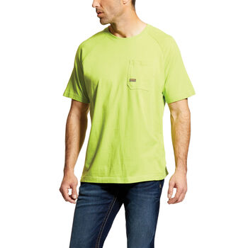 a79acee7808c Rebar Cotton Strong T-Shirt · BLACK · HEATHER GRAY · LIME ...