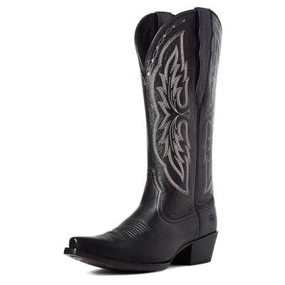 Heritage X Toe Elastic Wide Calf Western Boot