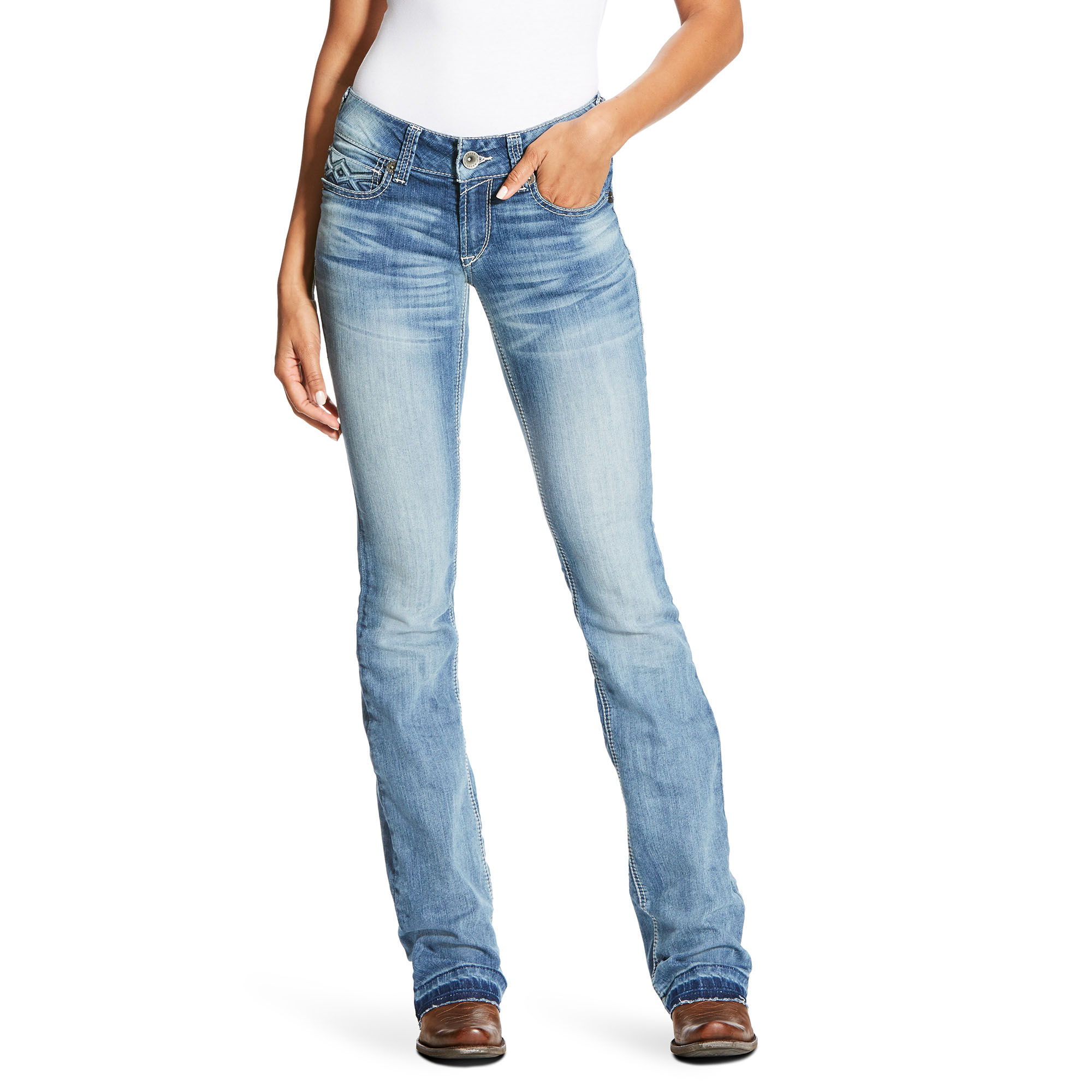 REAL Low Rise Boot Stella 3D Boot Cut Jean