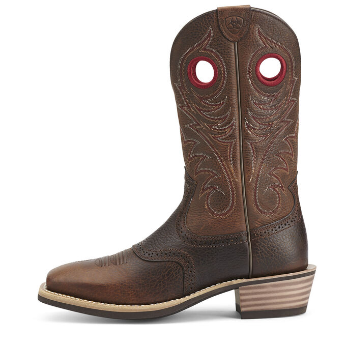 Heritage Roughstock Wide Square Toe Western Boot