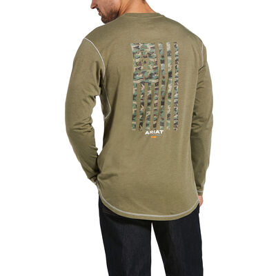 Rebar Workman Camo Flag T-Shirt