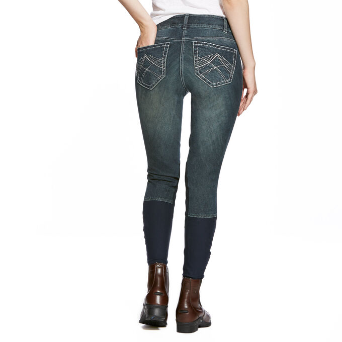 Whipstitch Knee Patch Front Zip Knee Patch Breech