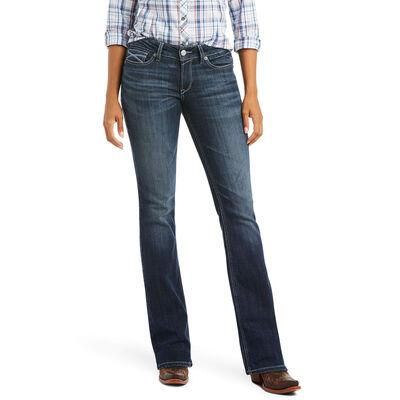 R.E.A.L. Mid Rise Arrow Fit Beverly Boot Cut Jean